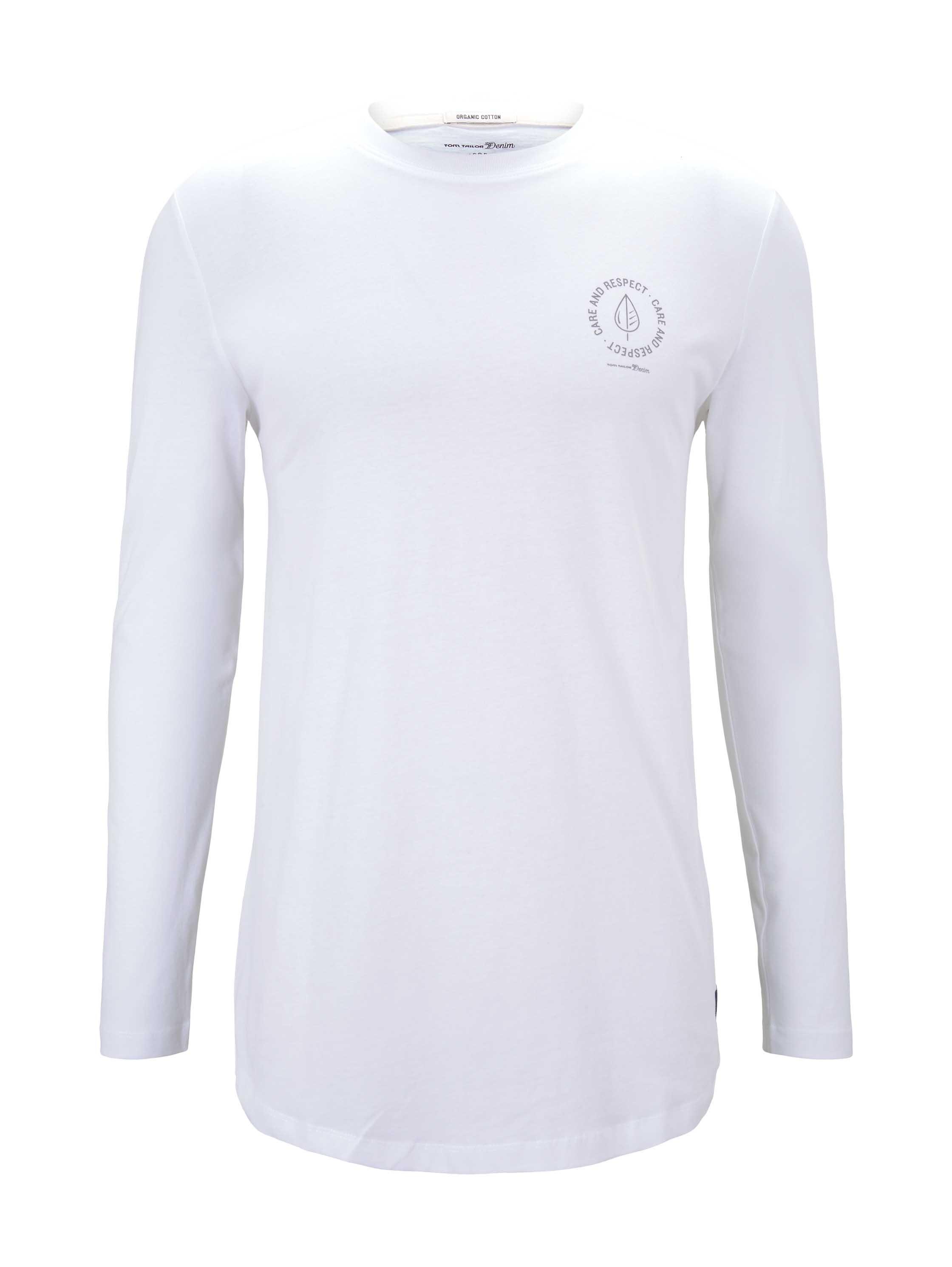 basic longsleeve T-shirt, White