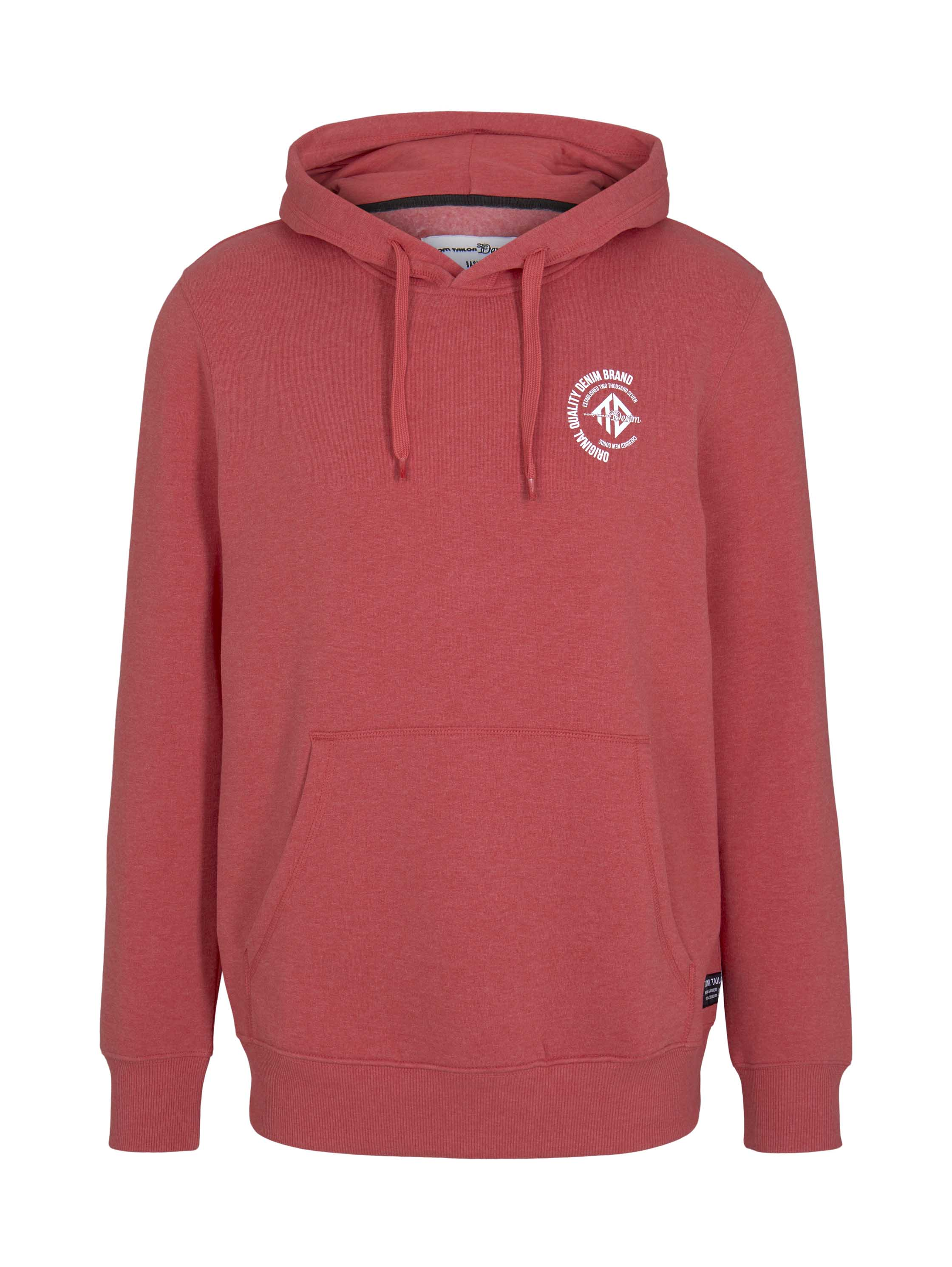 Hoody w. chest print, Normal Red