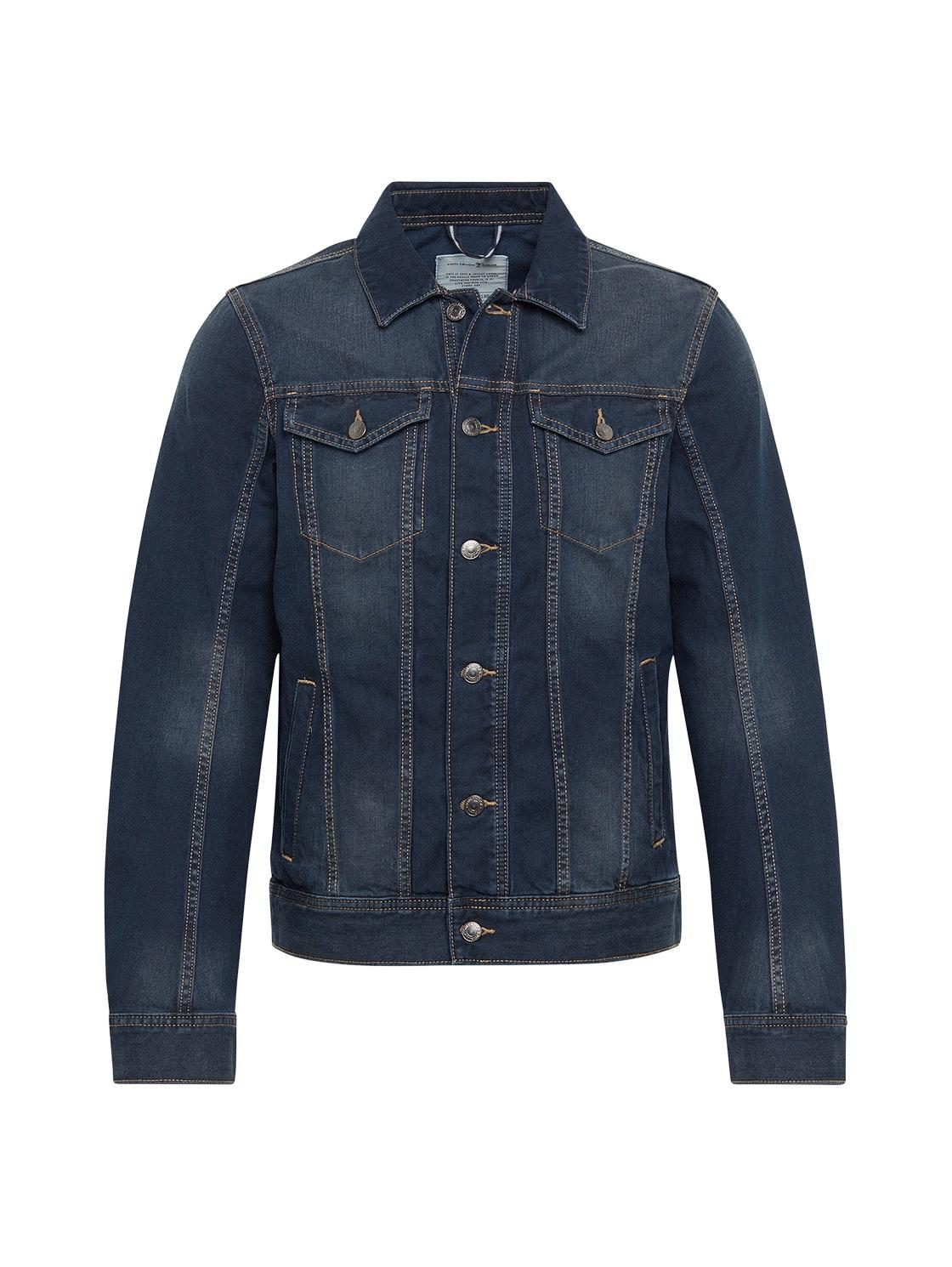 blue denim jacket, Stone Blue Denim Tint