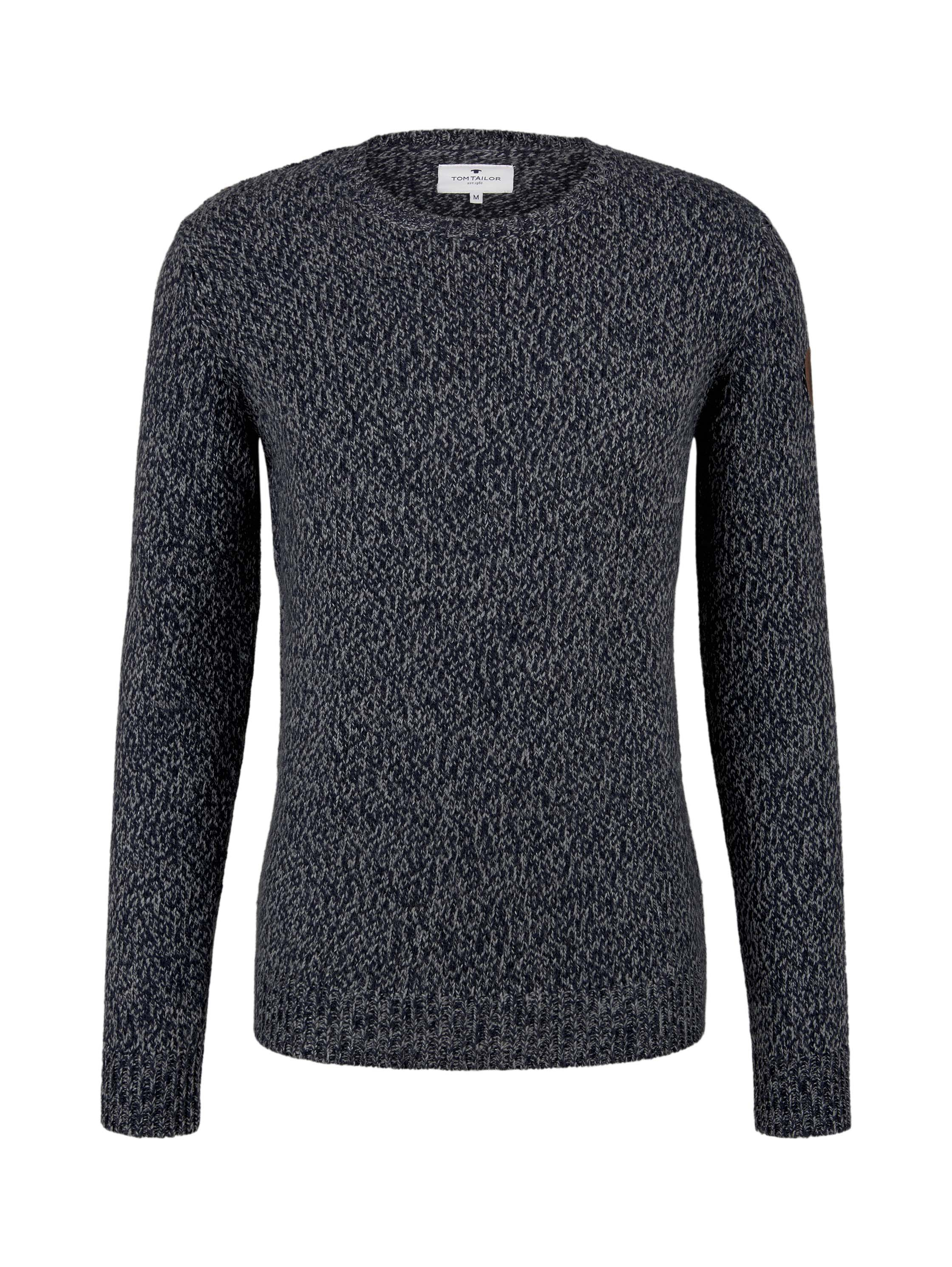 cosy sweater, navy grey mouline