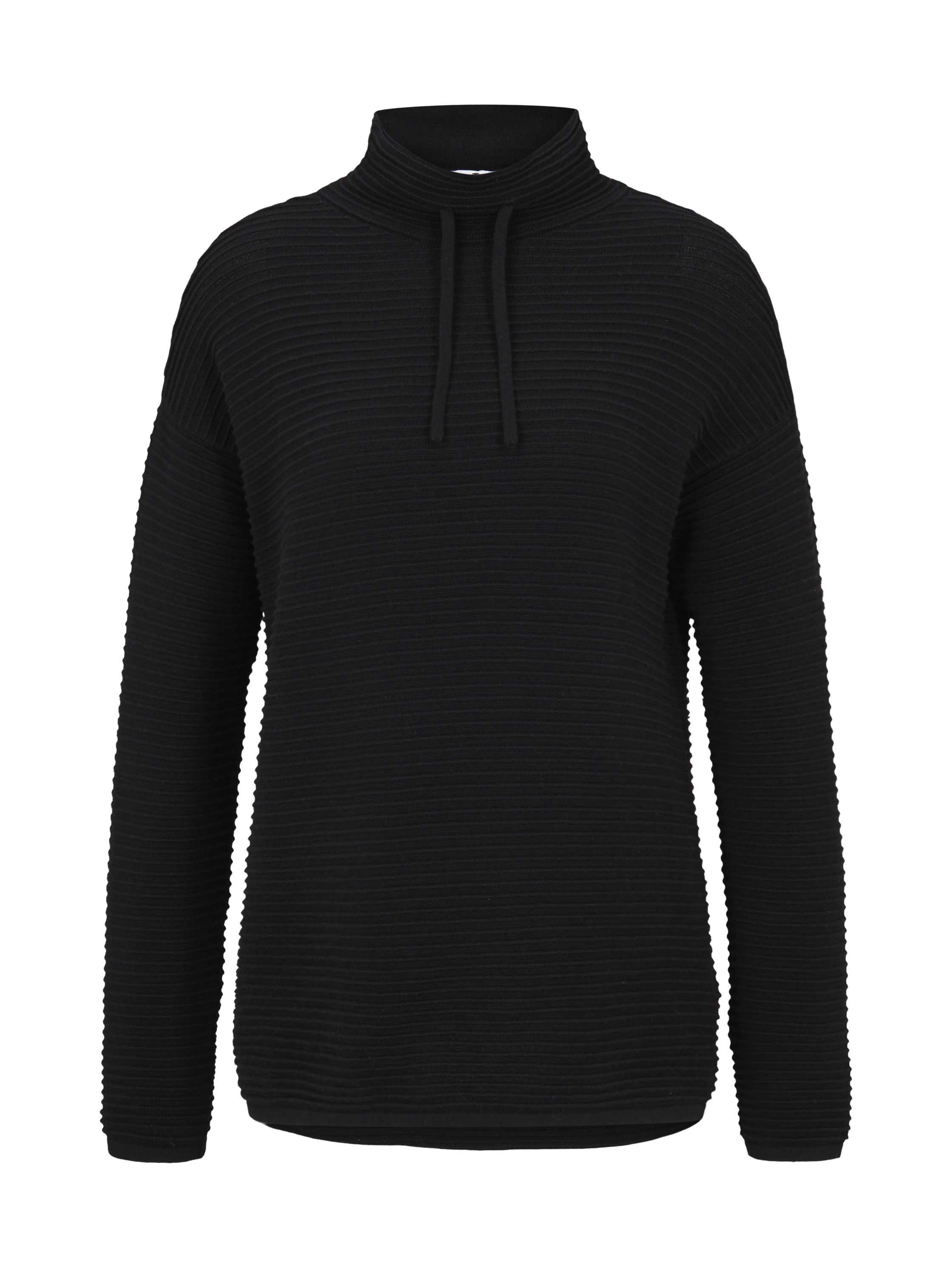 pullover mock neck ottoman, Deep Black