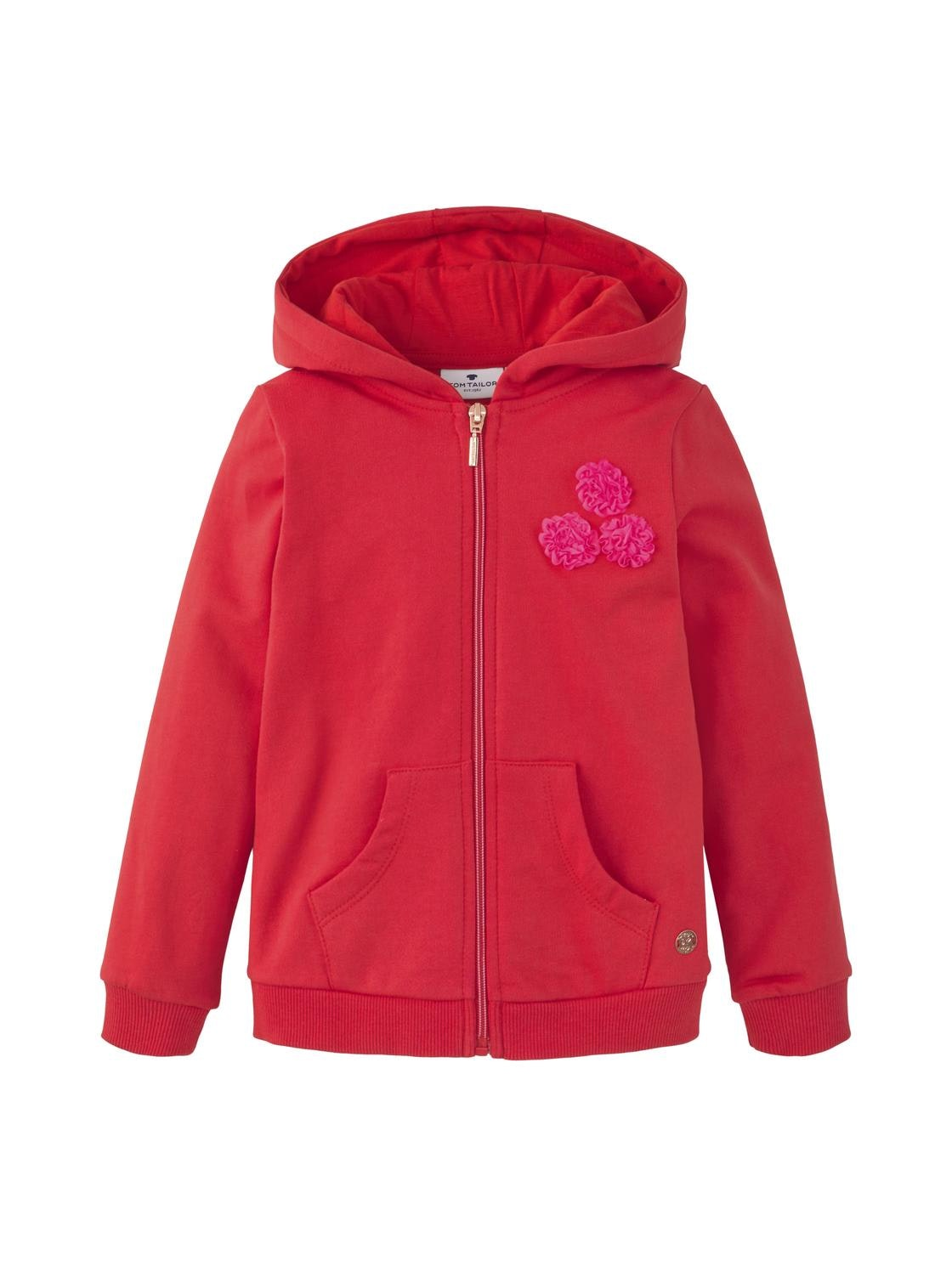 sweatjacket placed print, toreador-red