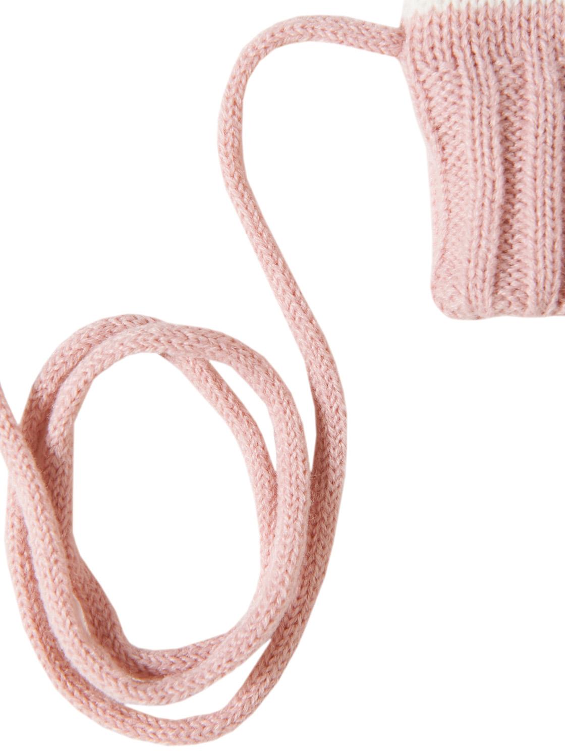 Handschuhe gestreift, twinkle pink white