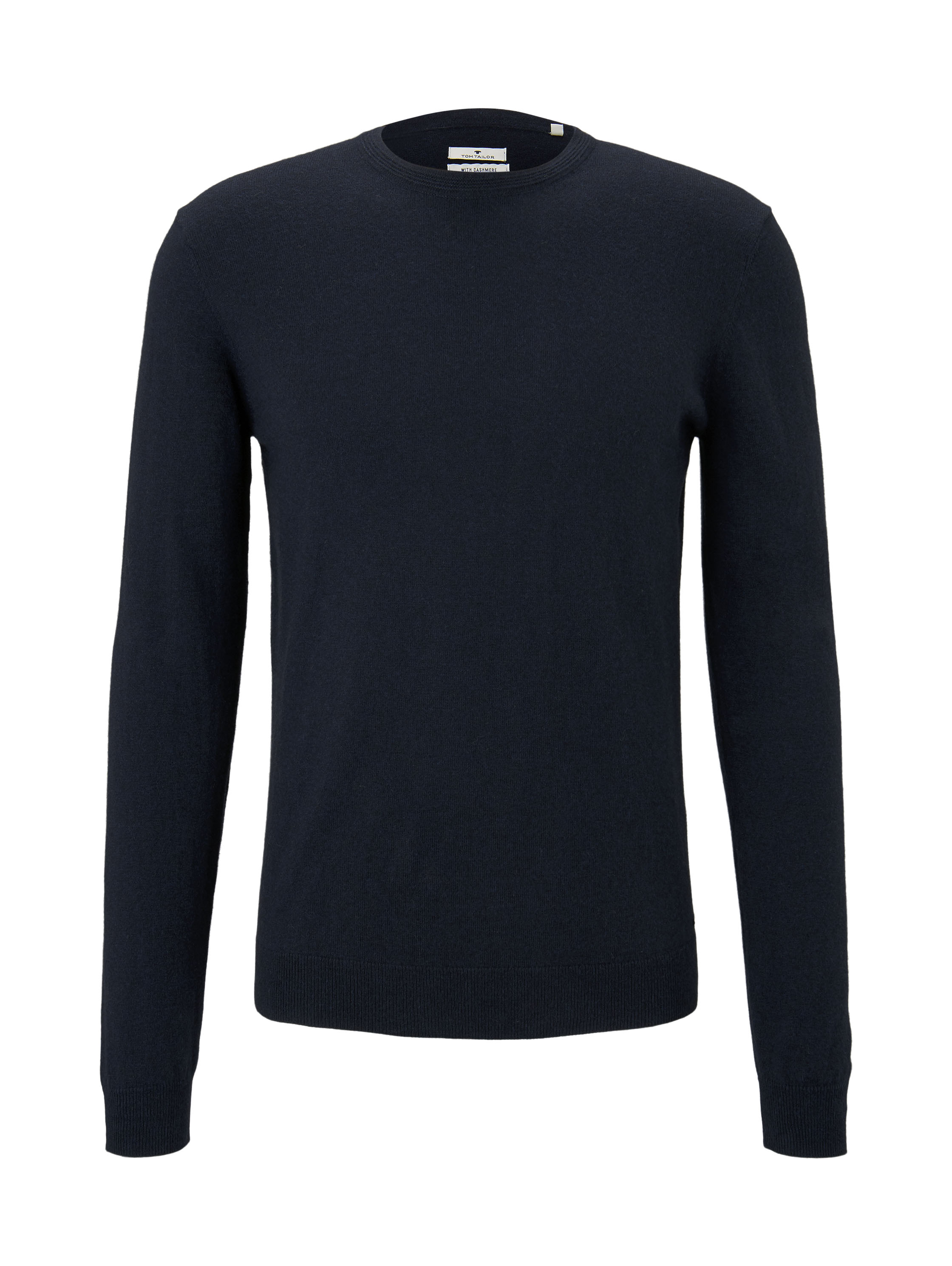 cosy cashmere blend sweater, Knitted Navy Melange          Blue