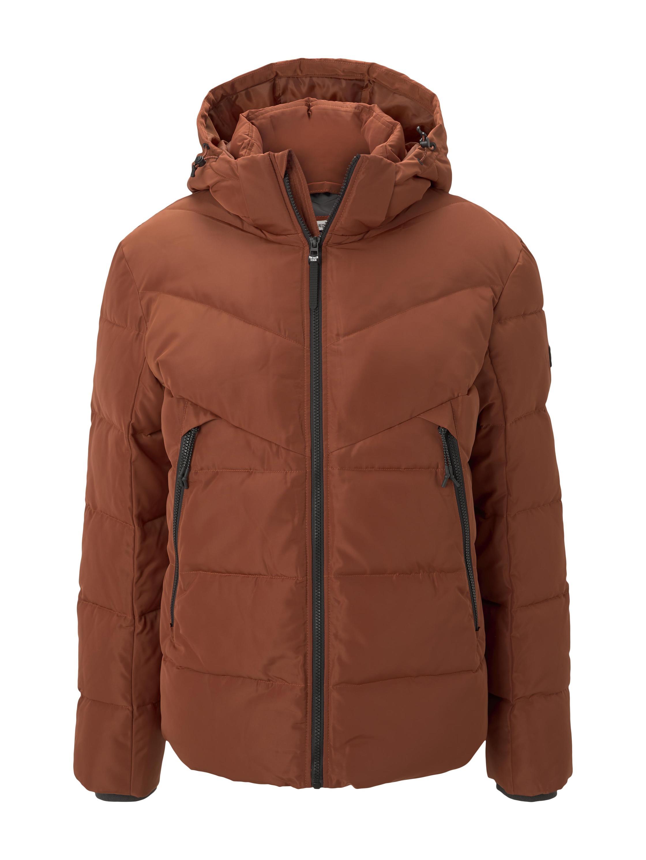 Heavy puffer jacket, Goji Orange