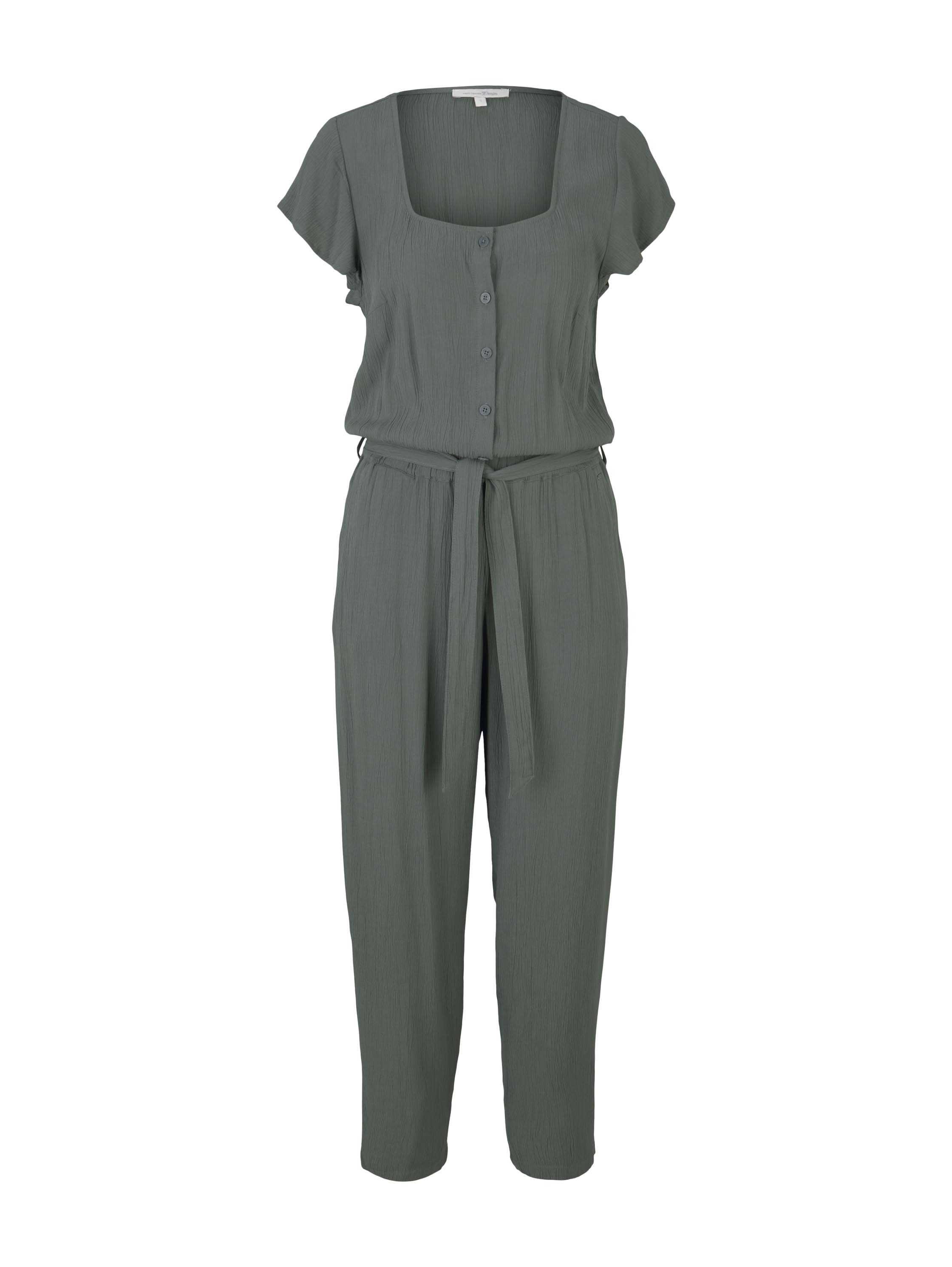 Crincled Jumpsuit, dusty pine green