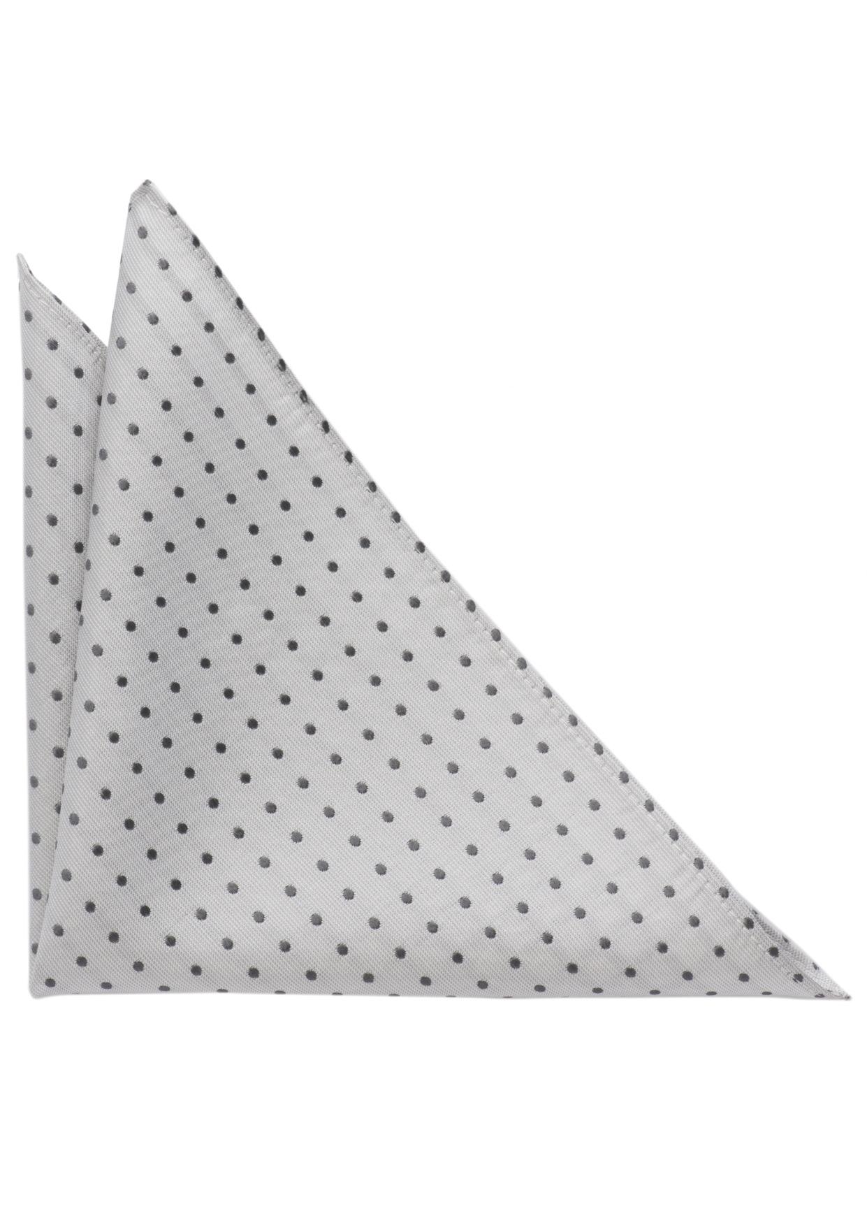 ETERNA Einstecktuch grau getupft