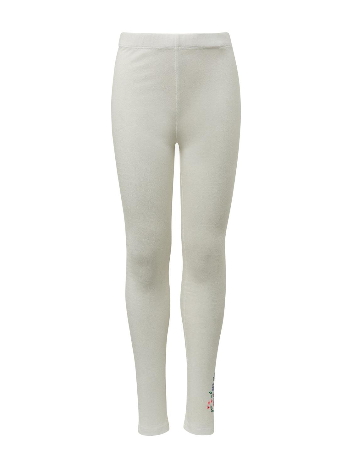 legging placed print, cloud dancer-white