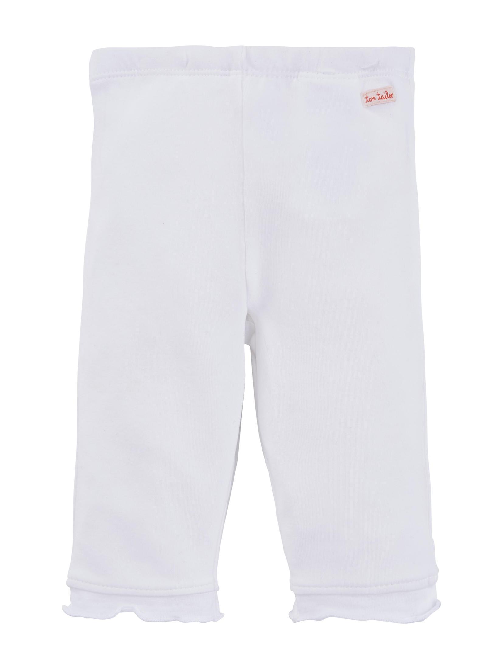 leggings solid, bright white-white