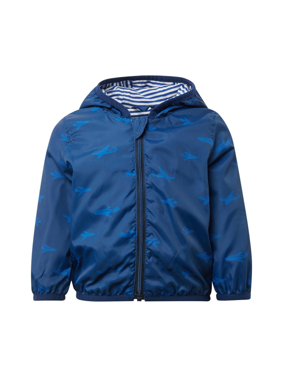 jacket patterned, estate blue-blue
