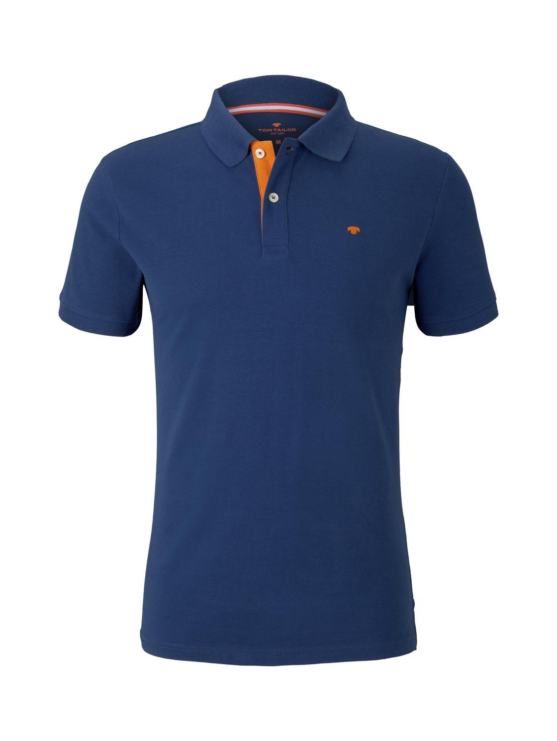 basic polo with contrast, after dark blue
