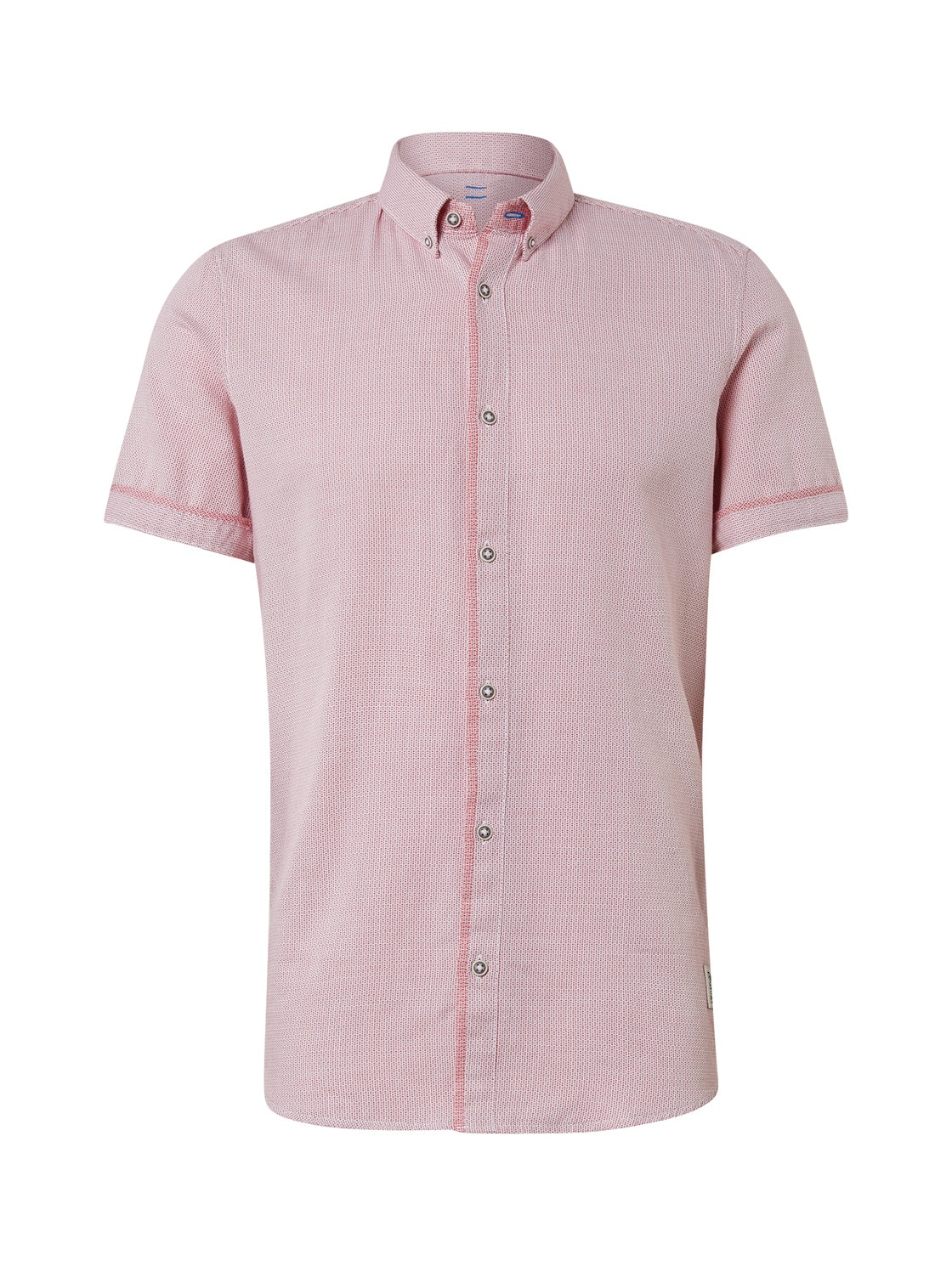 floyd casual structure shirt, white red structure           Red