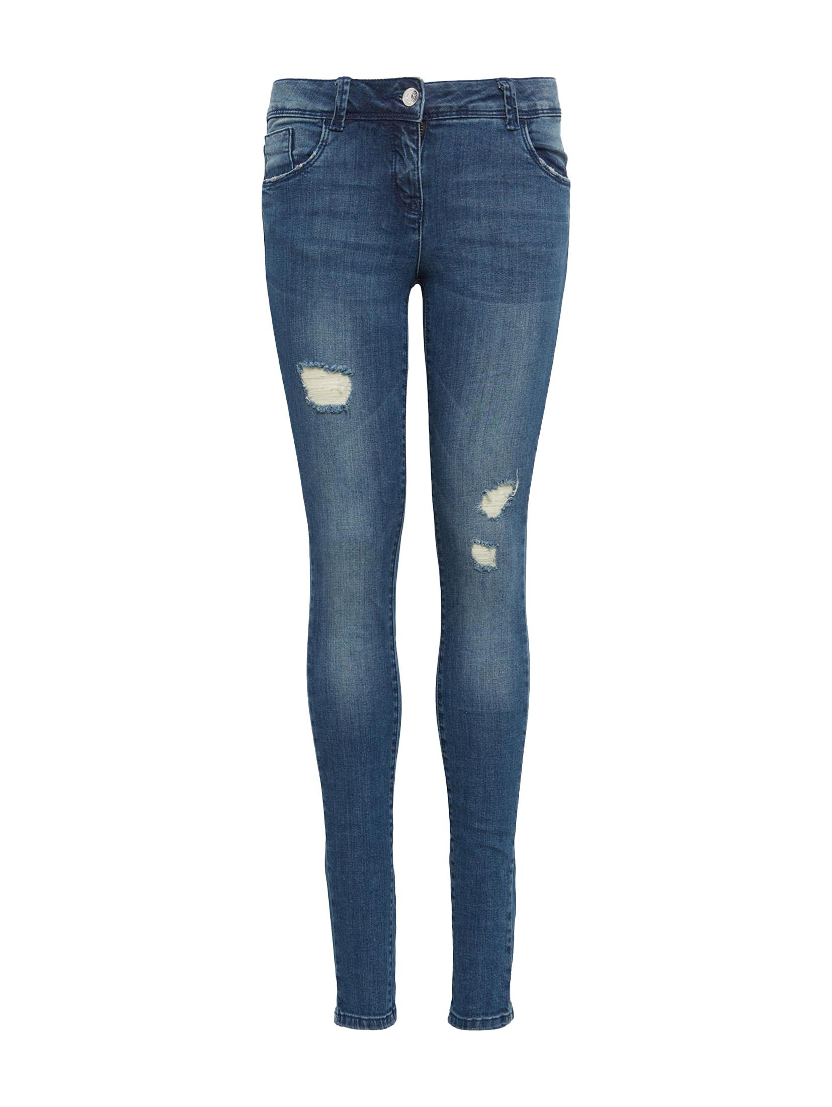Jeans uni long  LINLY, stone blue denim-denim