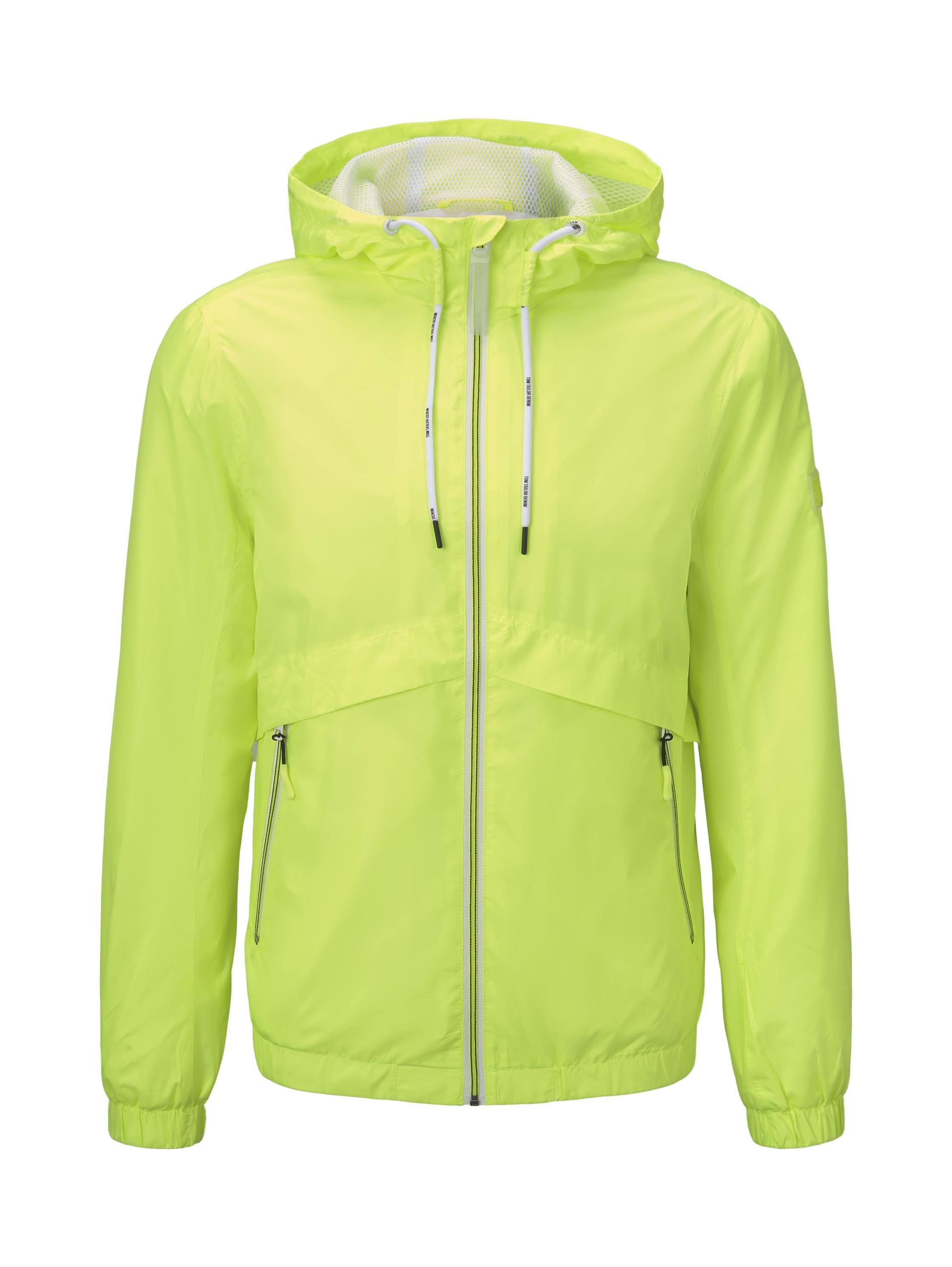 light anorak, neon green