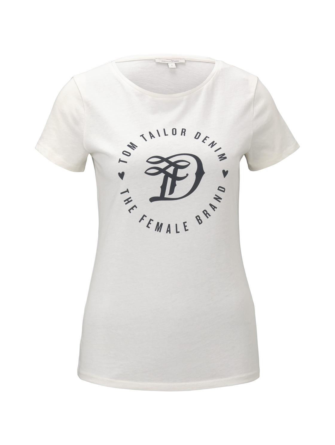 basic jersey print tee, Gardenia White