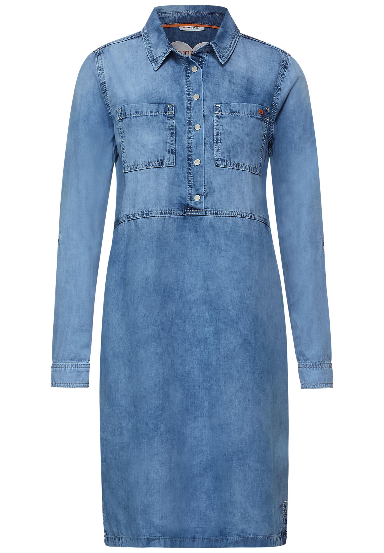 Blaues Denim-Kleid