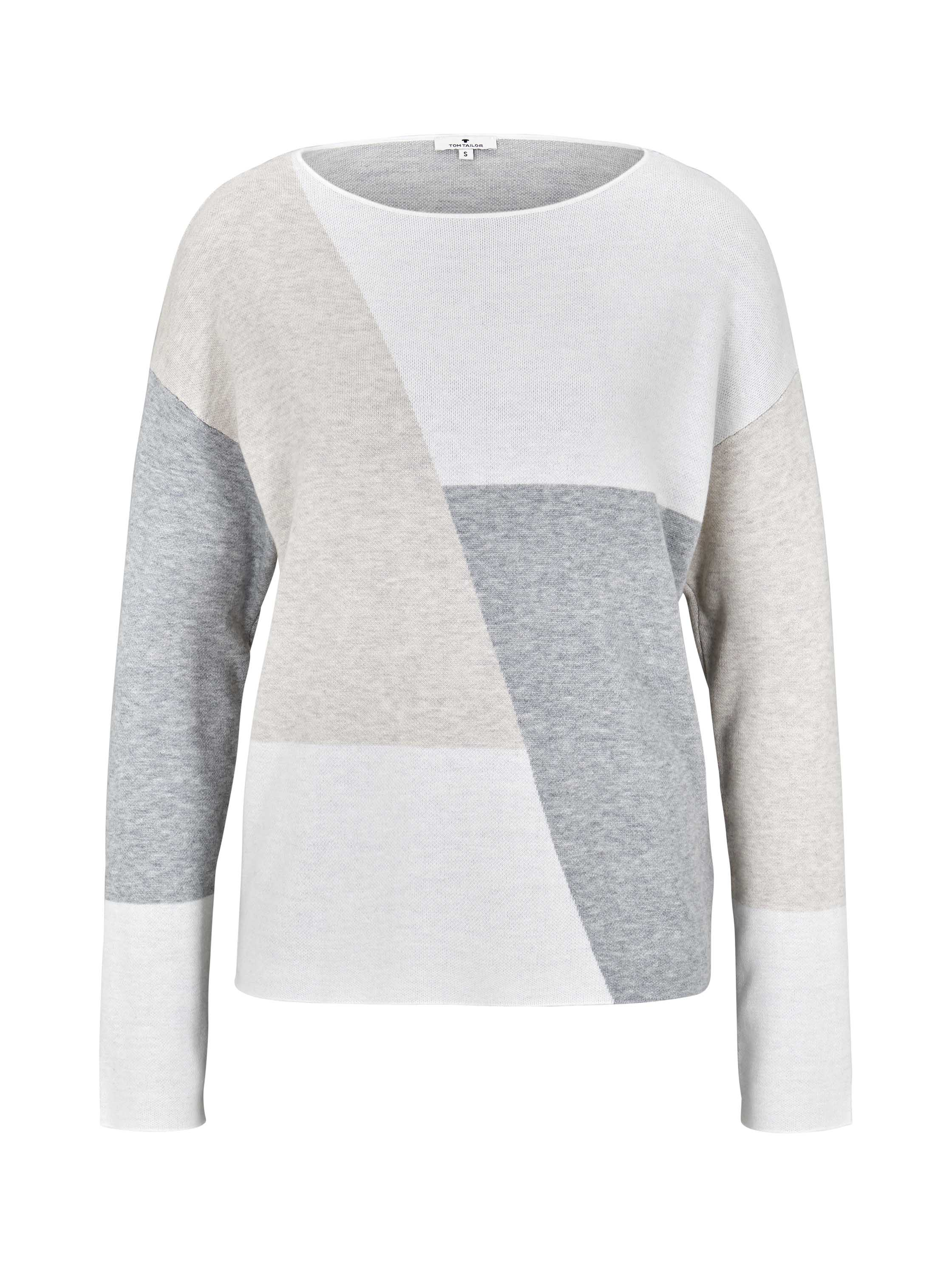 pullover jaquard batwing, Whisper White