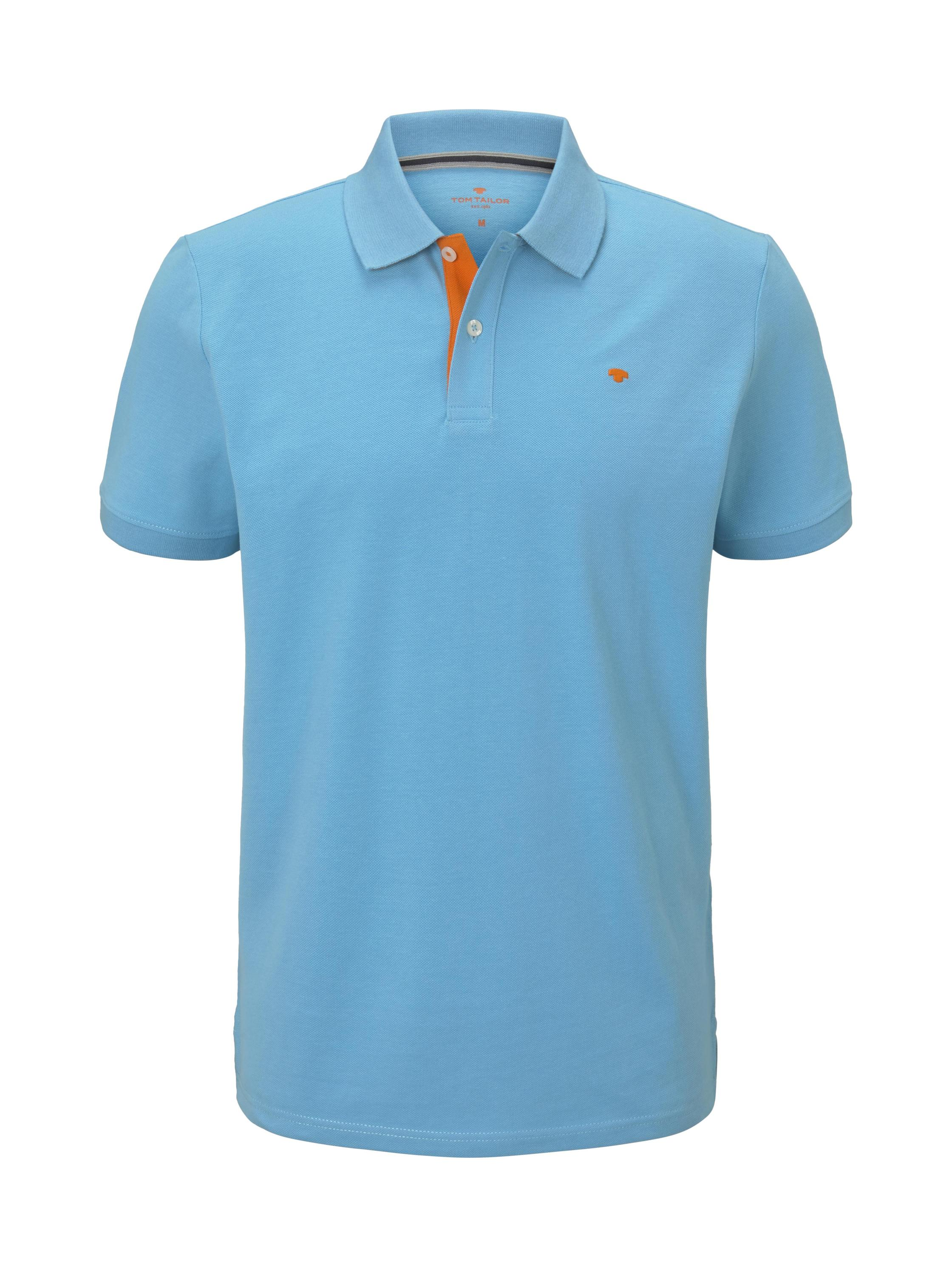 basic polo with contrast, north blue