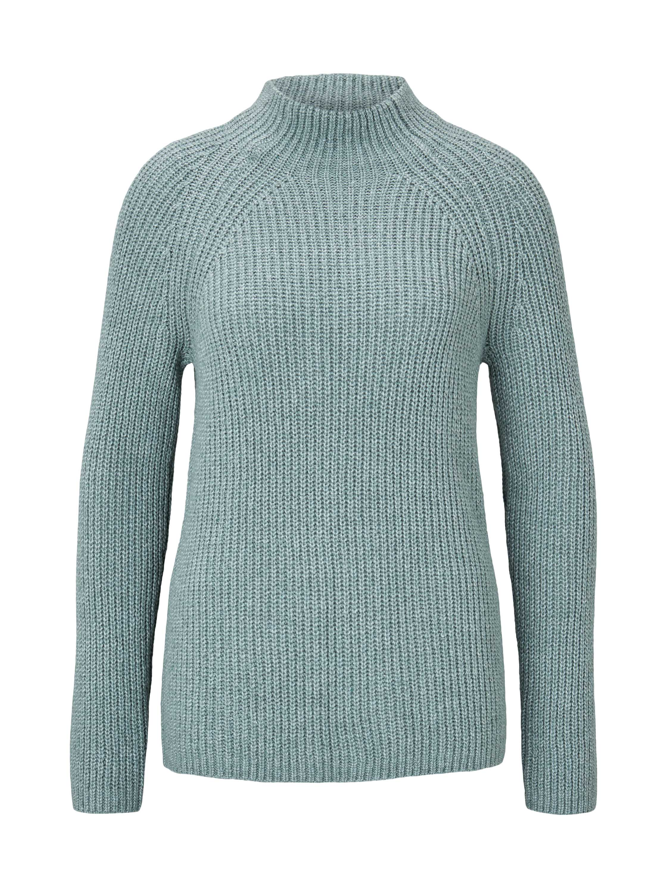 pullover chunky raglan, salvia green melange