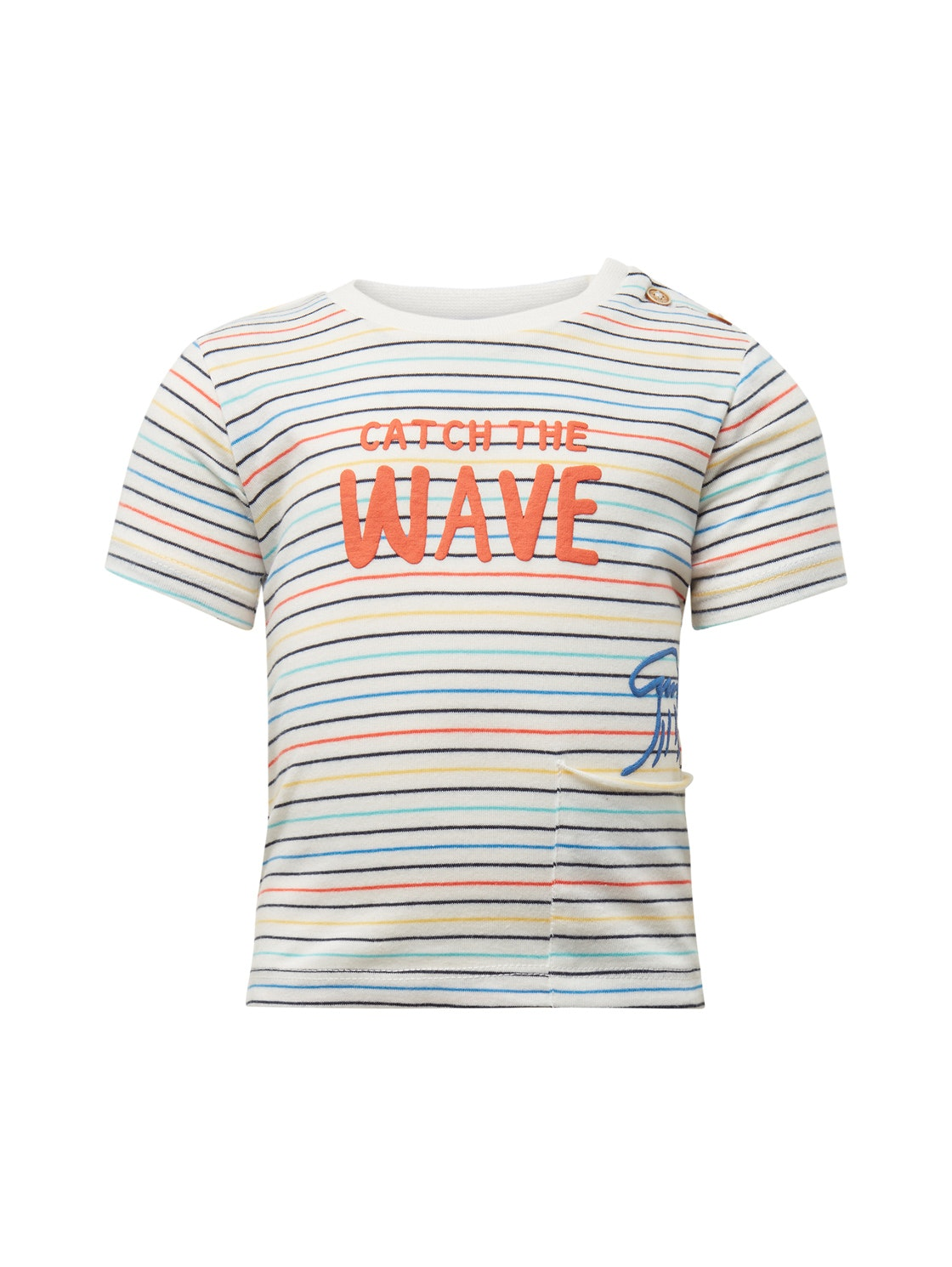 T-shirt patterned, multicolour-multicolored
