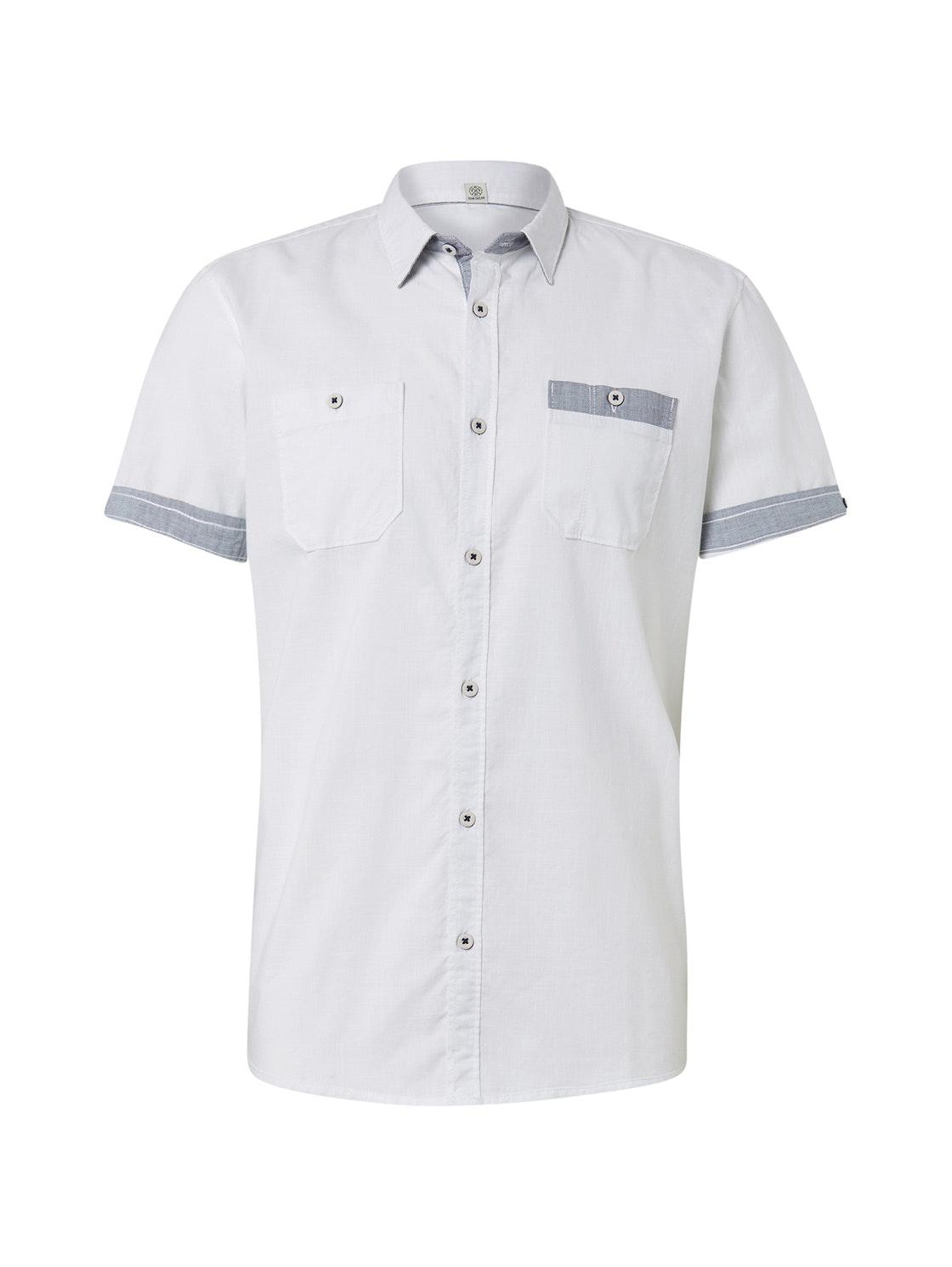ray casual slub shirt, White                         White