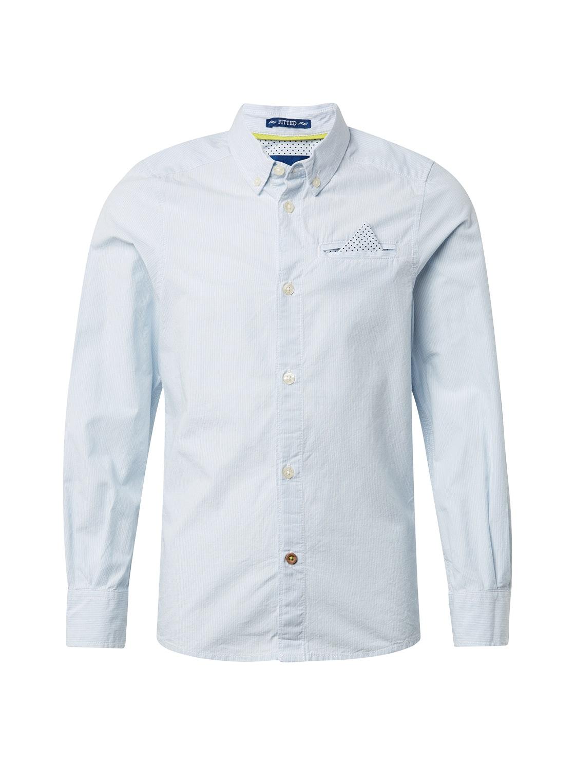 shirt striped, skyway-blue