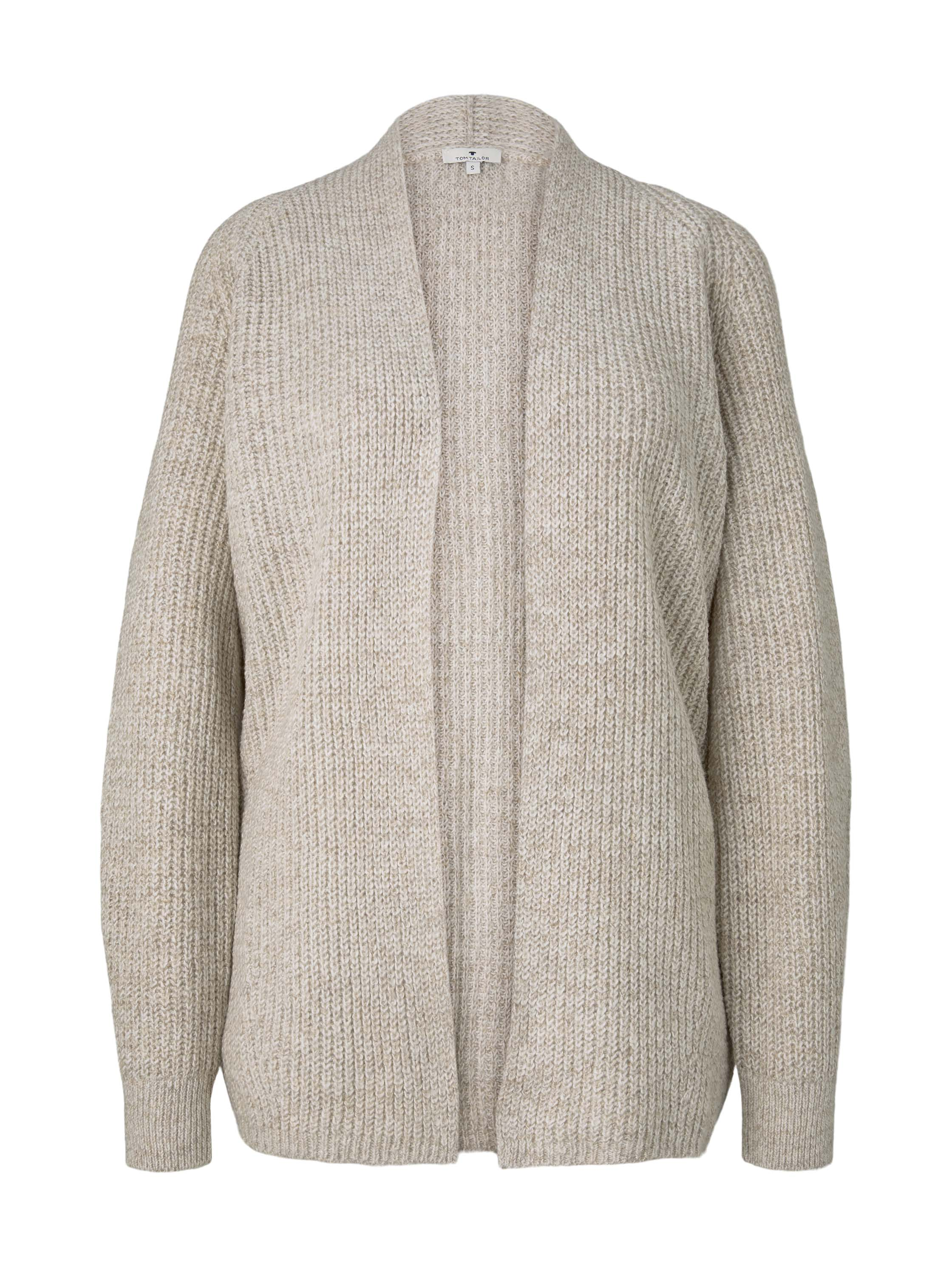 cardigan chunky raglan, light warm beige melange