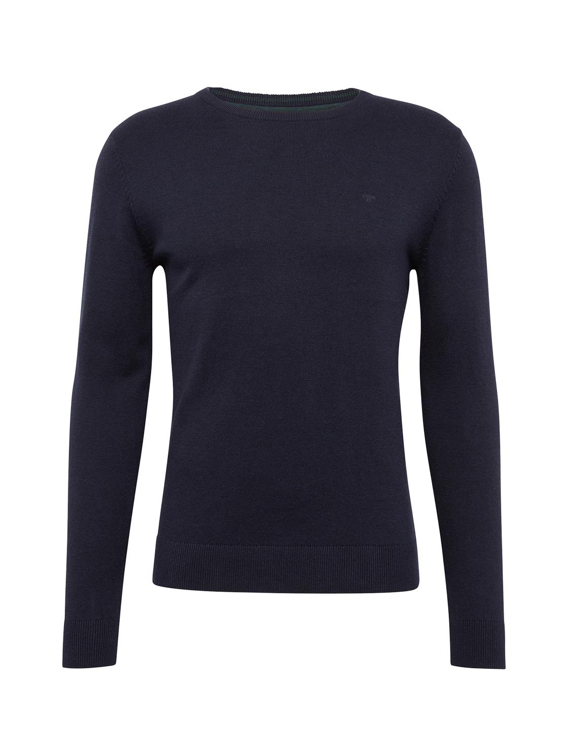 basic crew-neck sweater Knit C, navy eclipse