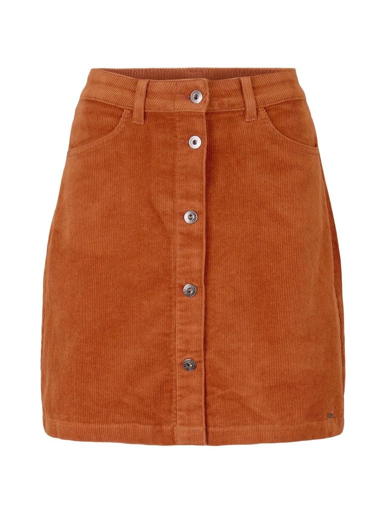 corduroy mini skirt, amber brown