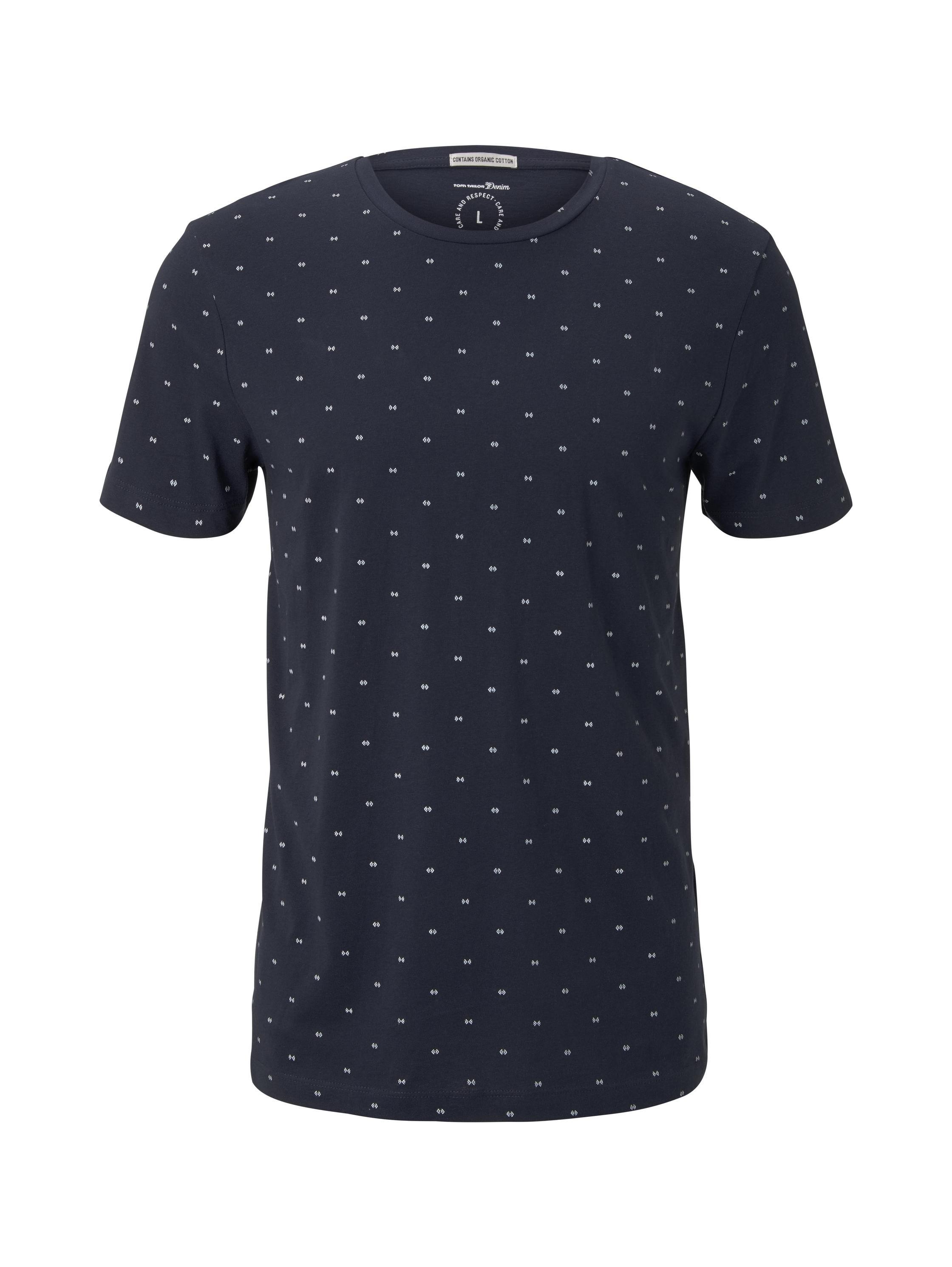 alloverprinted T-shirt, navy small element print