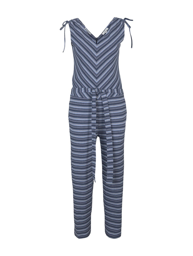 jumpsuit multicoloured, blue structure design