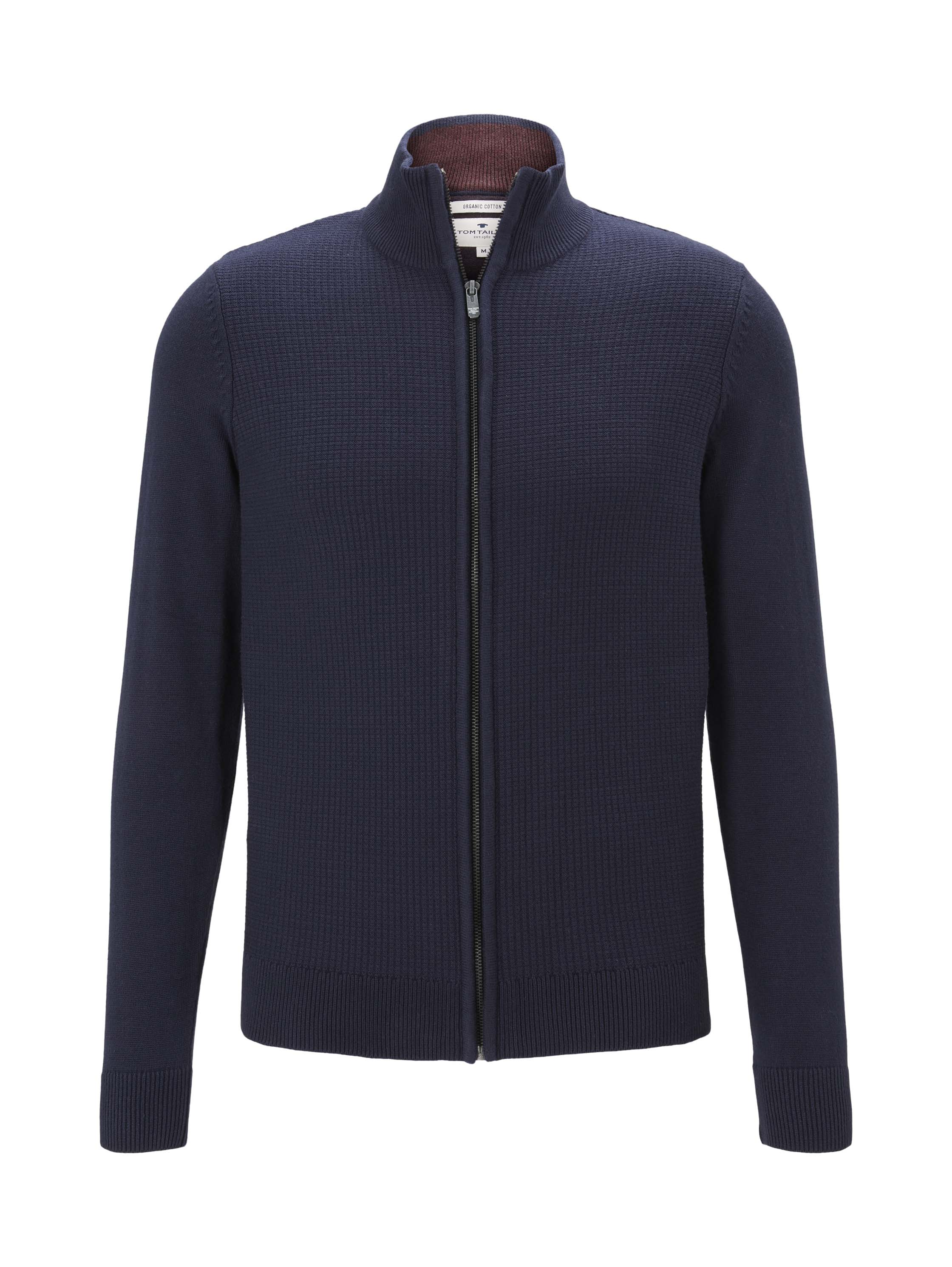 basic structured jacket, Knitted Navy