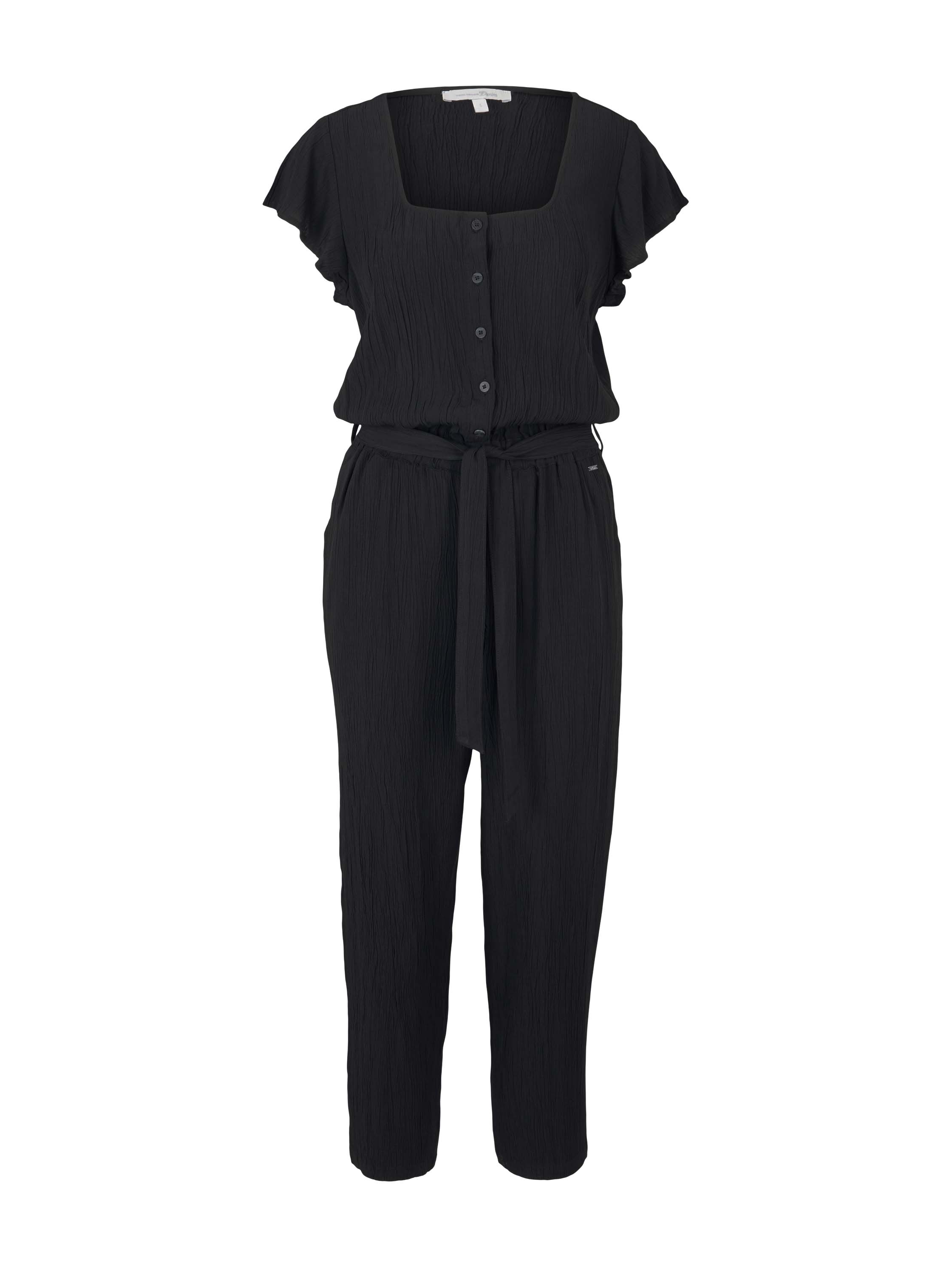 Crincled Jumpsuit, deep black
