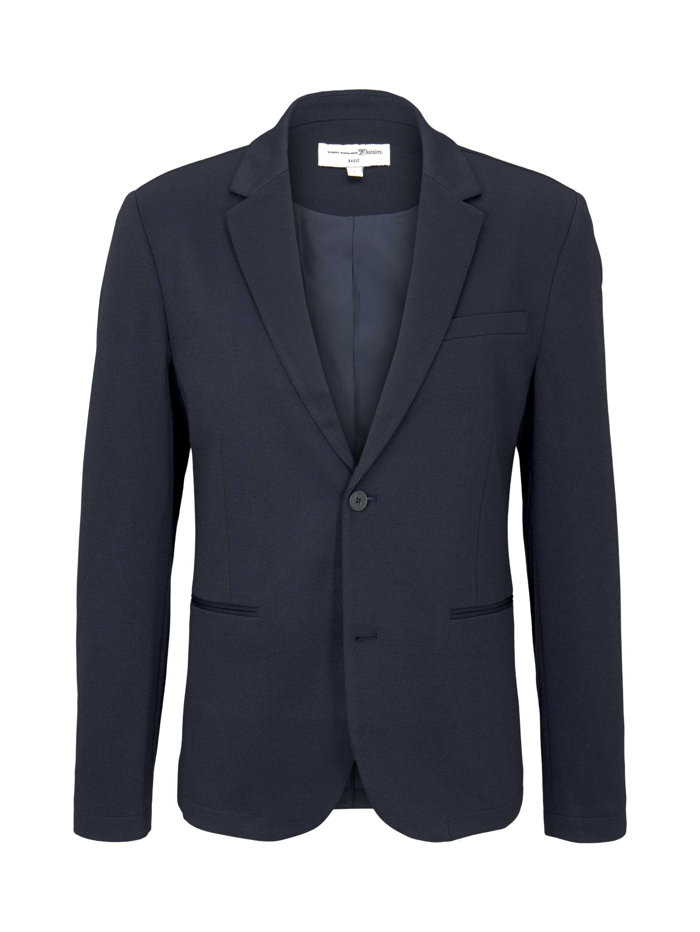 piquee blazer, Sky Captain Blue Non-Solid