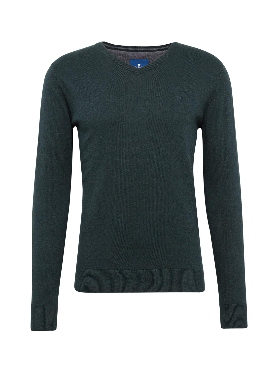 basic v-neck sweater Knit V-Ne, dark gable green