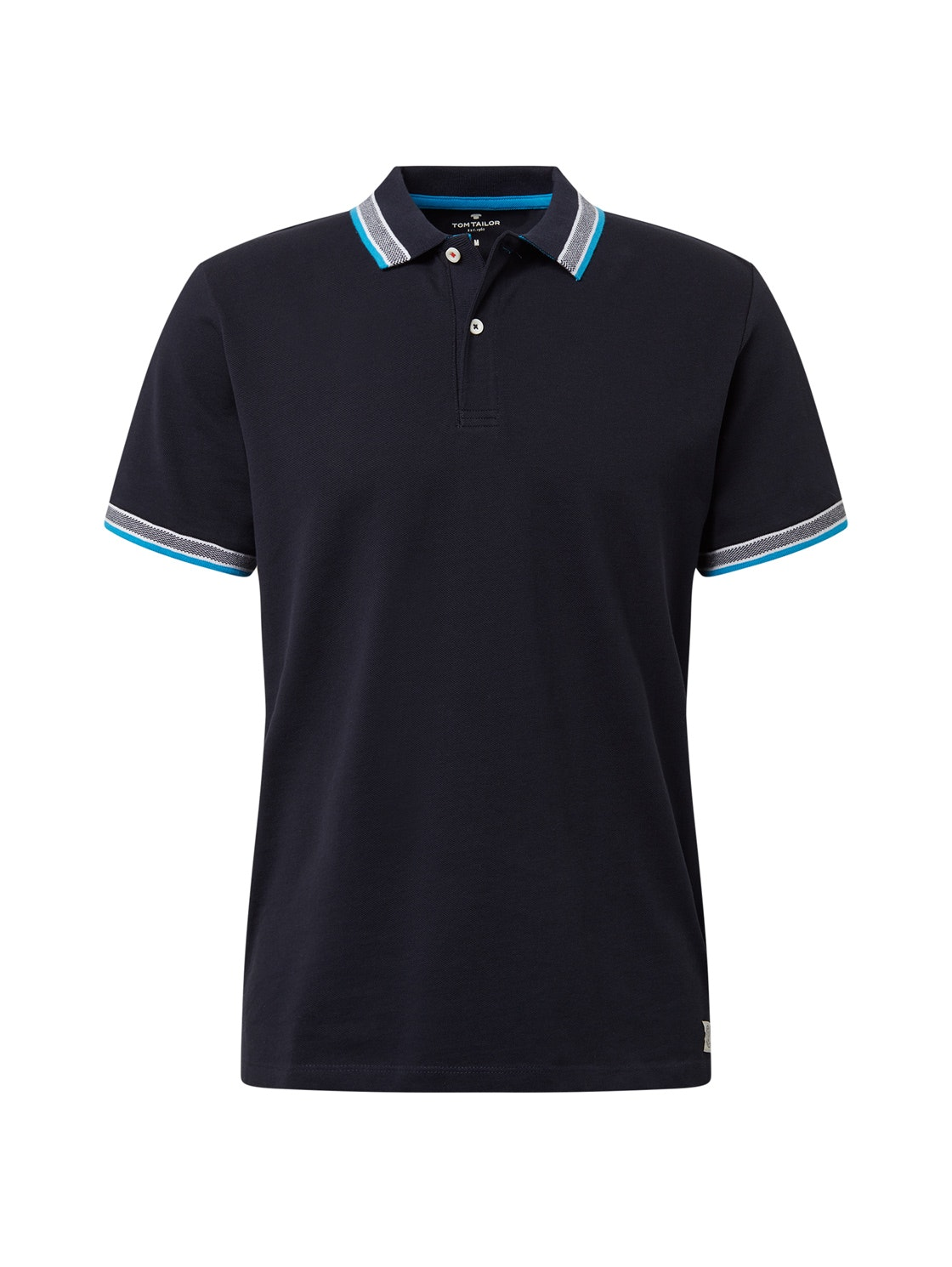 polo with wording tipping, Knitted Navy                  Blue