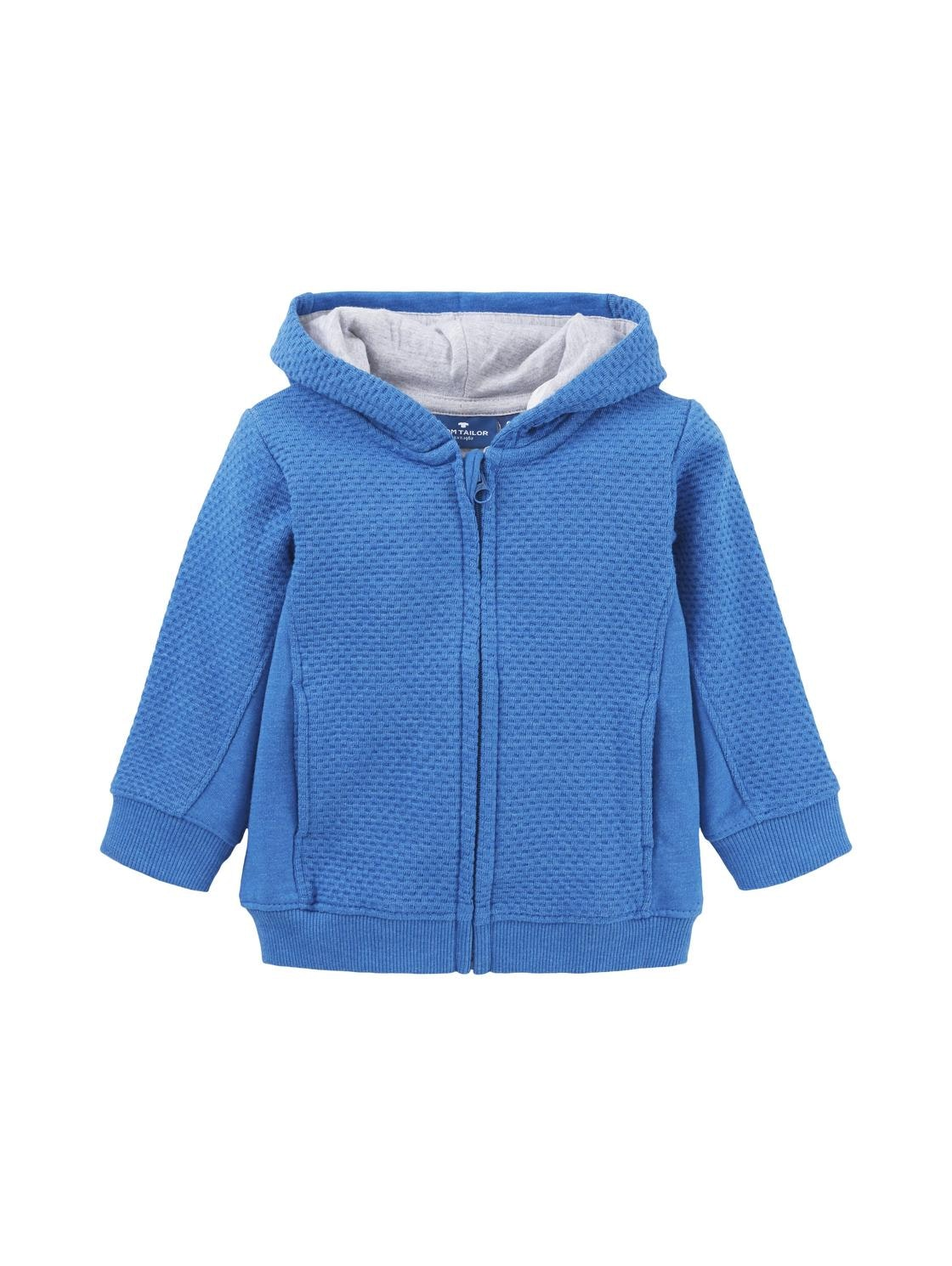 sweatjacket patterned, turkish sea-blue