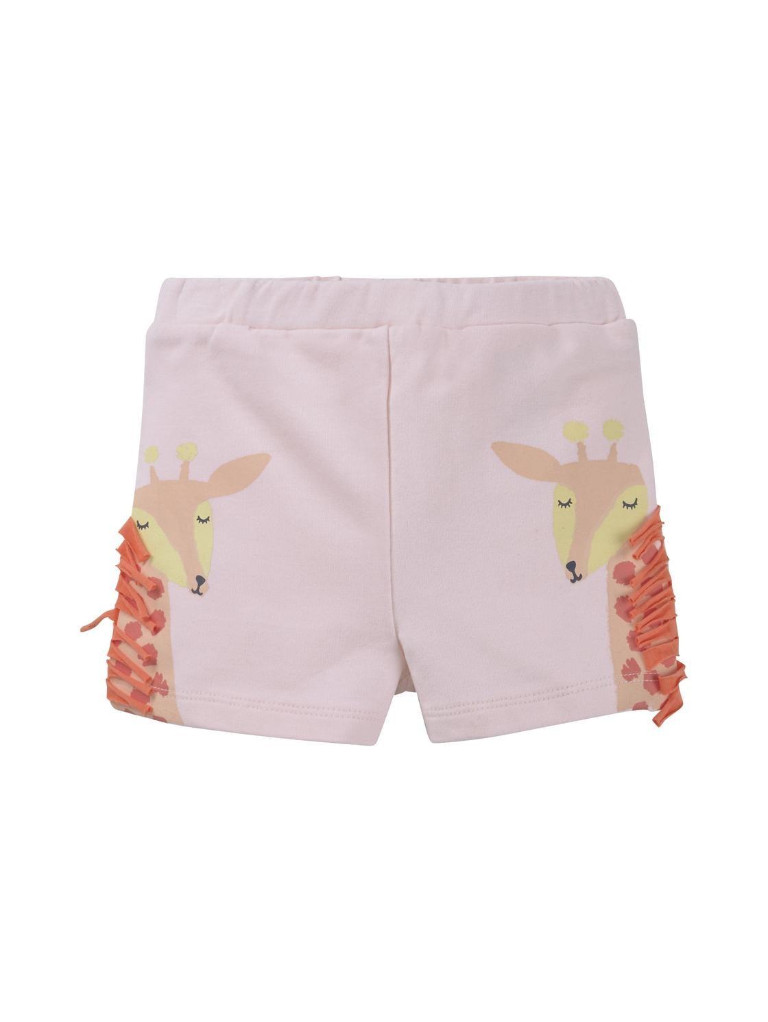 shorts placed print, ballet slipper-rose