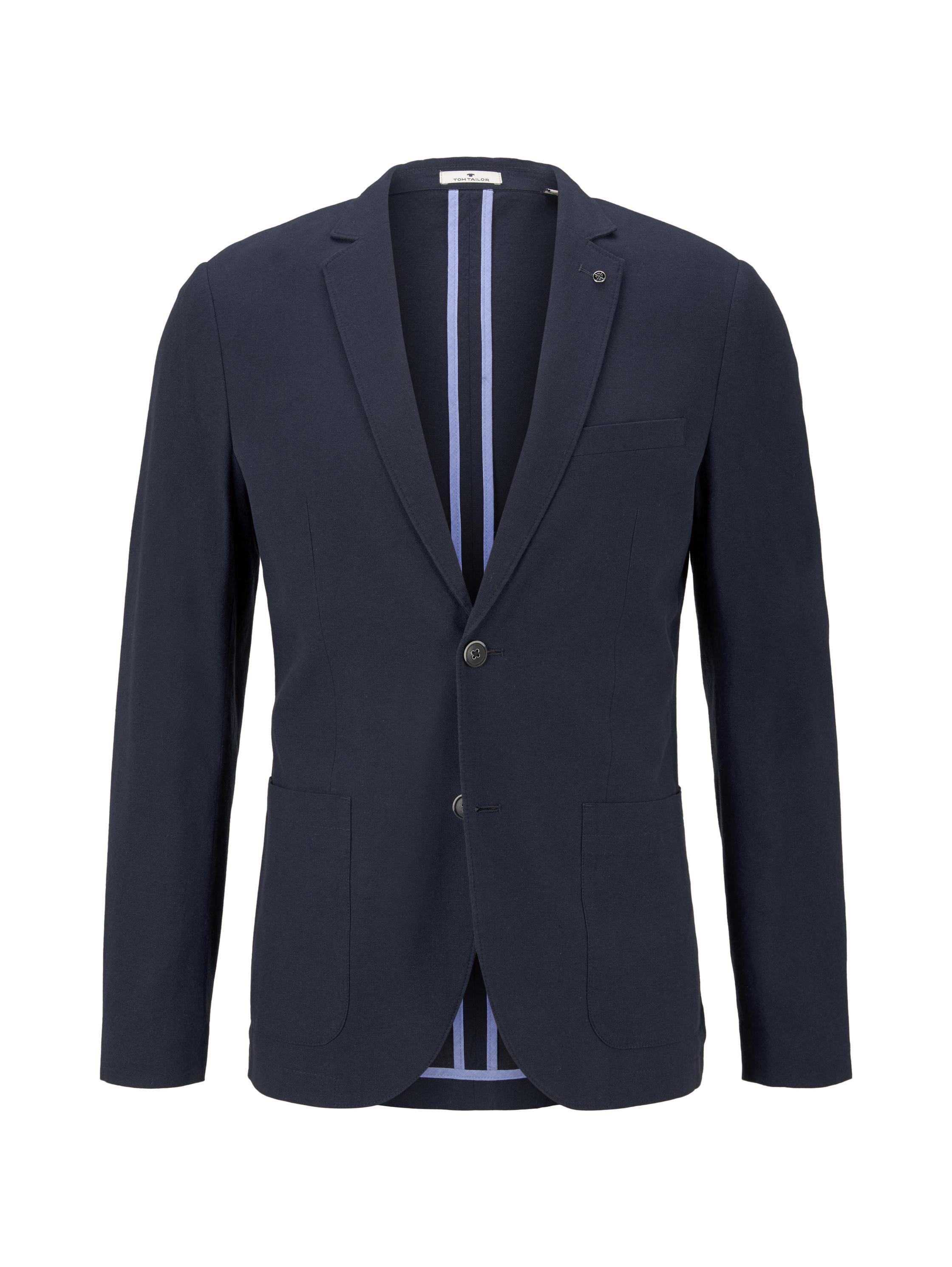 linen blazer, Sky Captain Blue