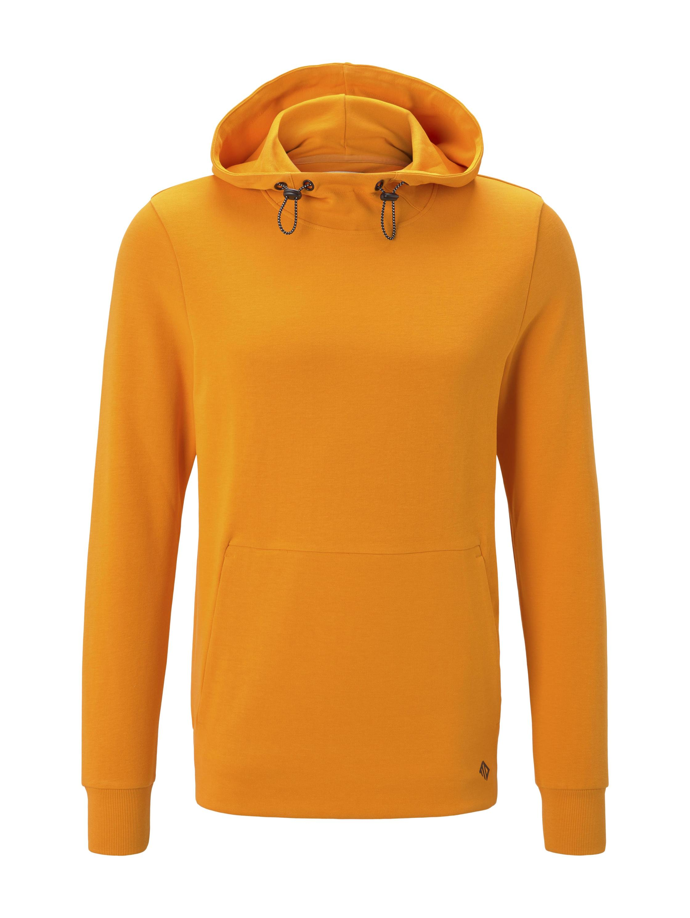 hoody with special fabric, goldfish orange