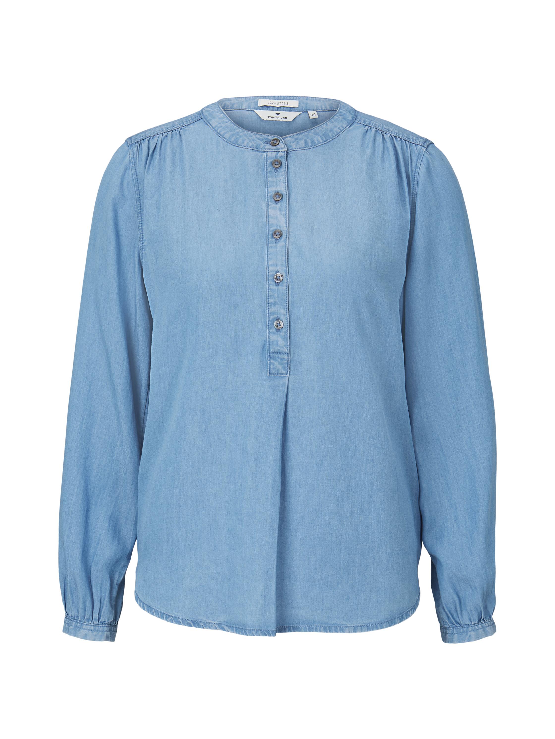 blouse denim look, Blue Denim