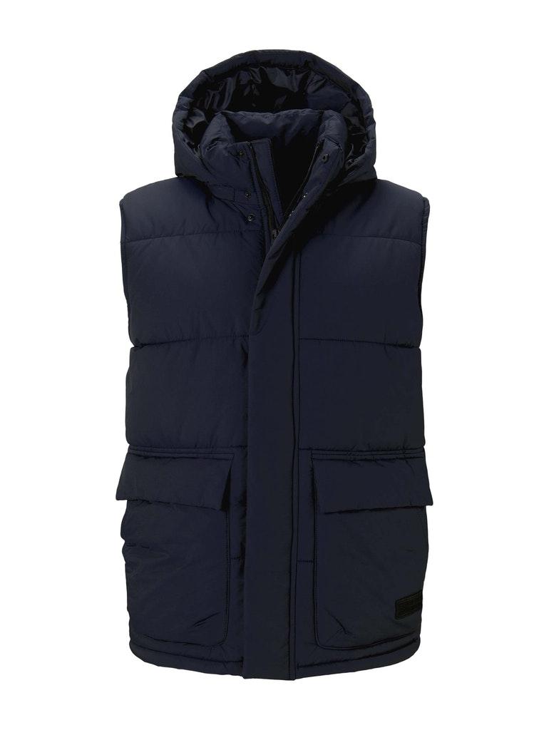clean puffer vest, Sky Captain Blue