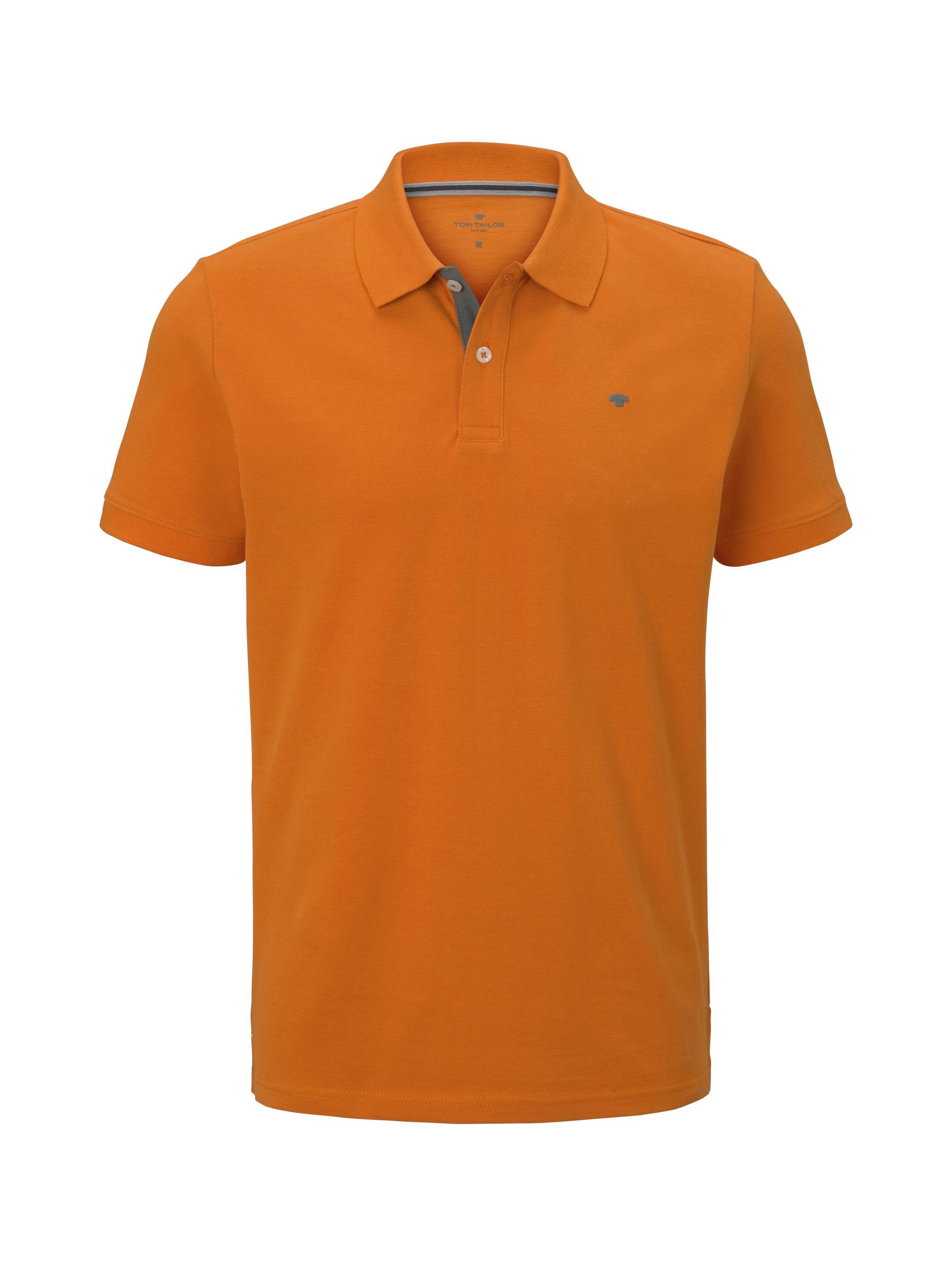 basic polo with contrast, exuberance orange