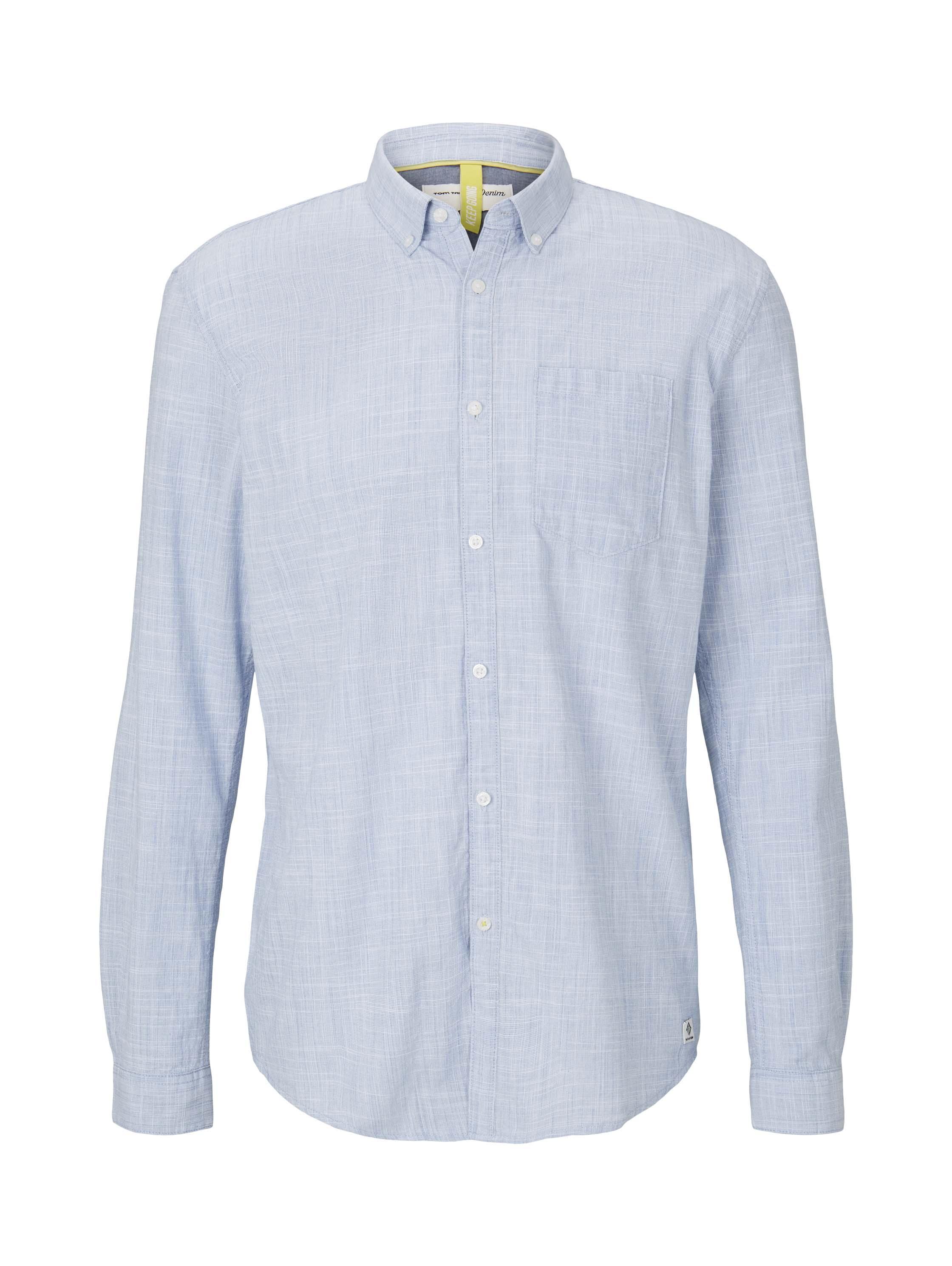 button down slub shirt, Blue Younder