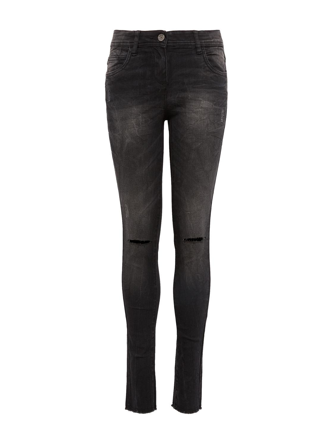 Jeans uni long  LISSIE, dark stone black denim-denim
