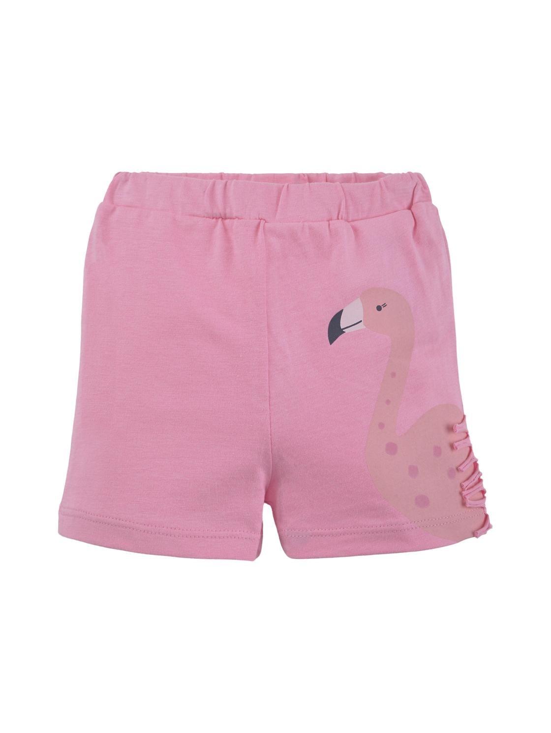 jersey shorts placed print, sachet pink-rose