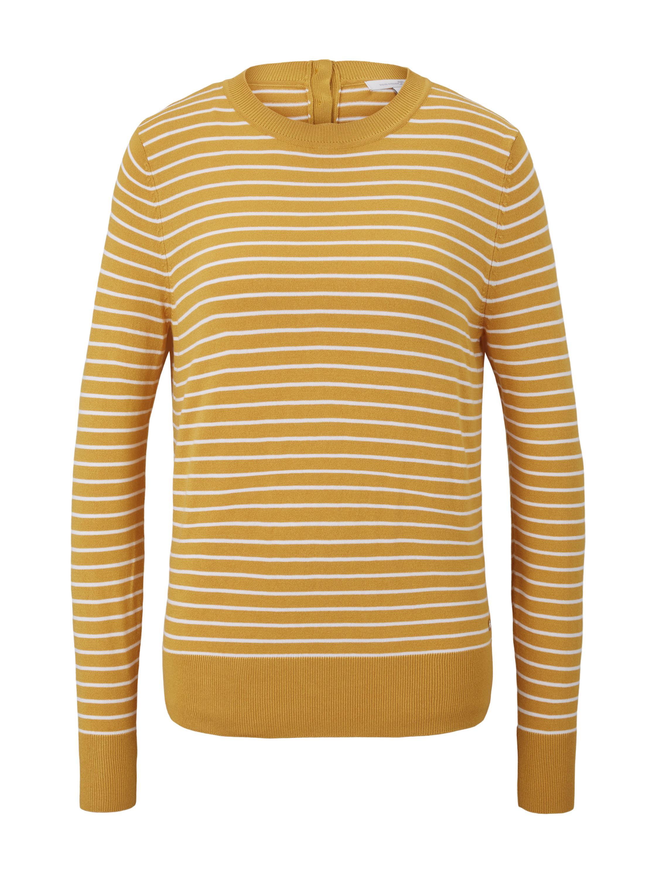 easy stripe pullover, yellow stripe                 Yello