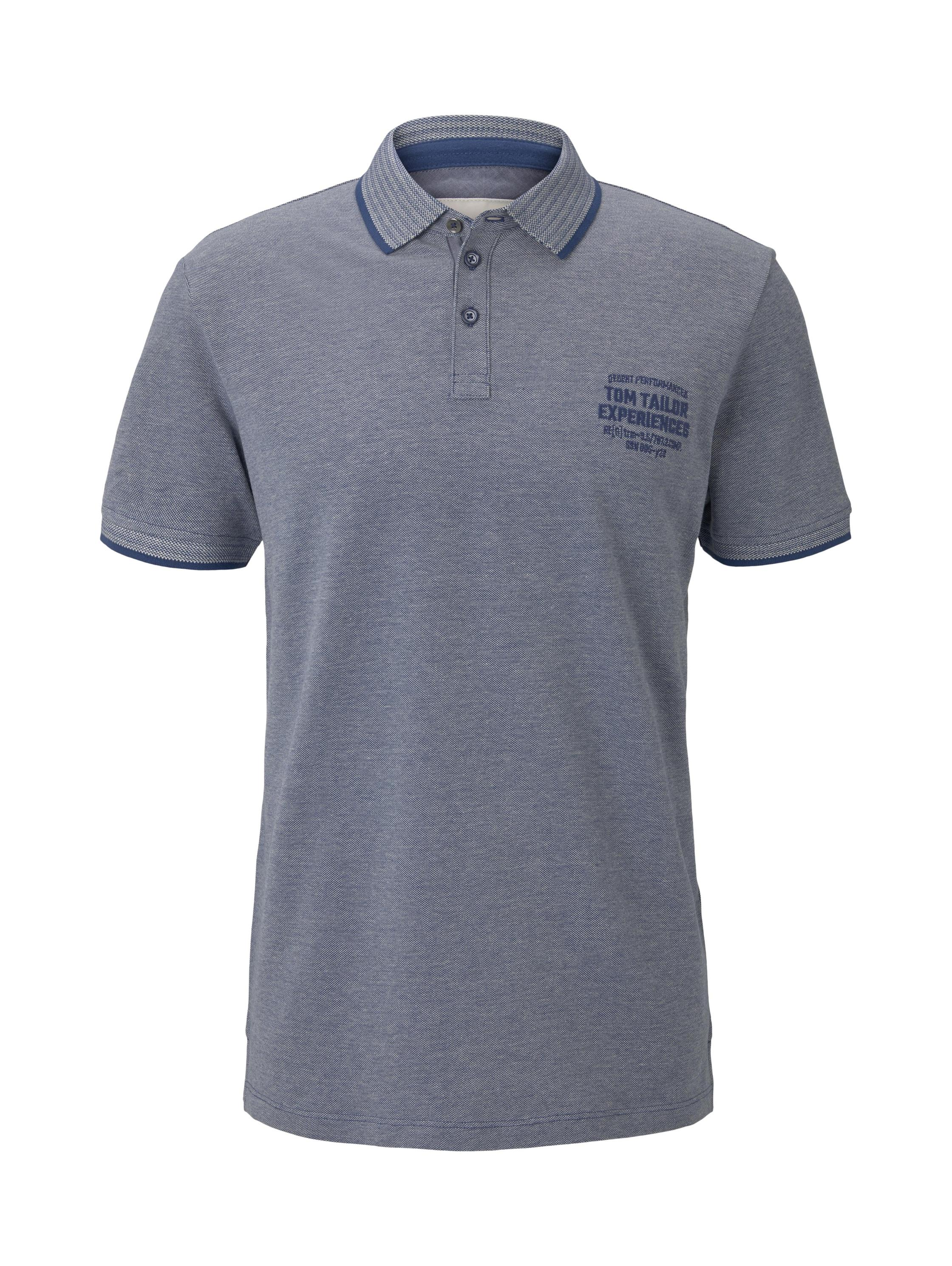 polo two tone with tipping, blue twotone structure