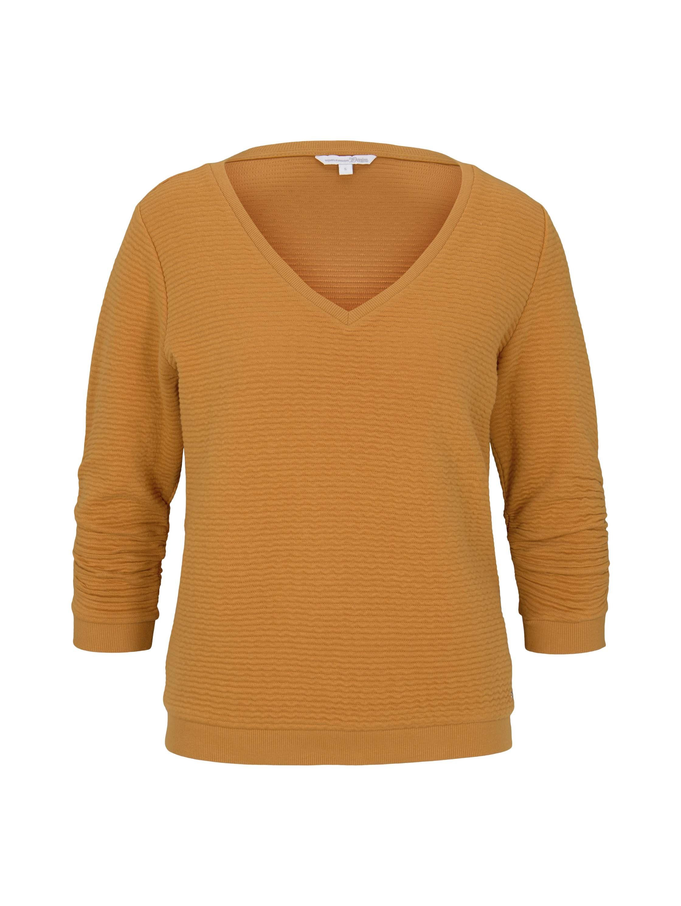structured sweat, orange yellow