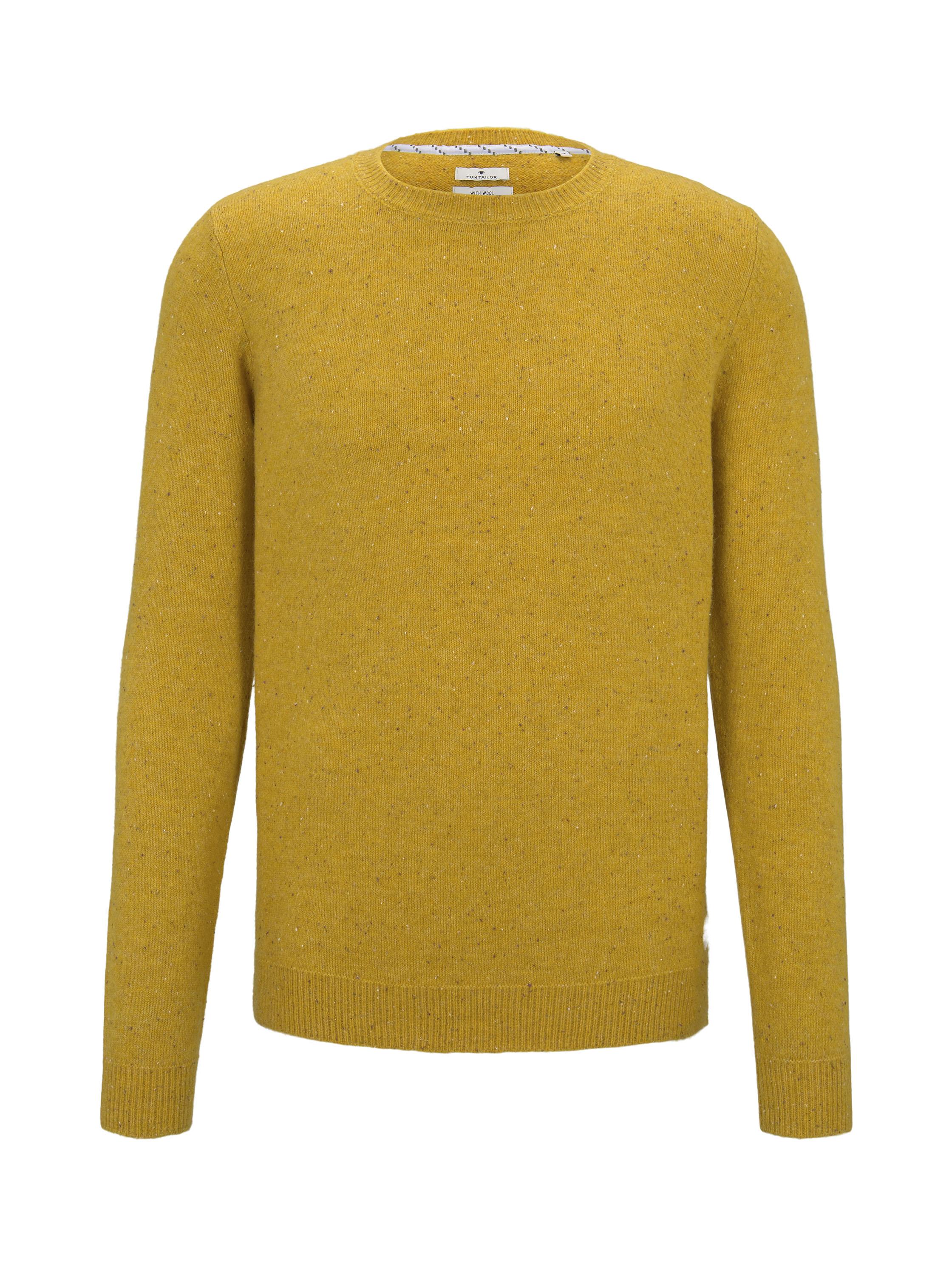 cosy nep sweater, yellow nep yarn               Yello